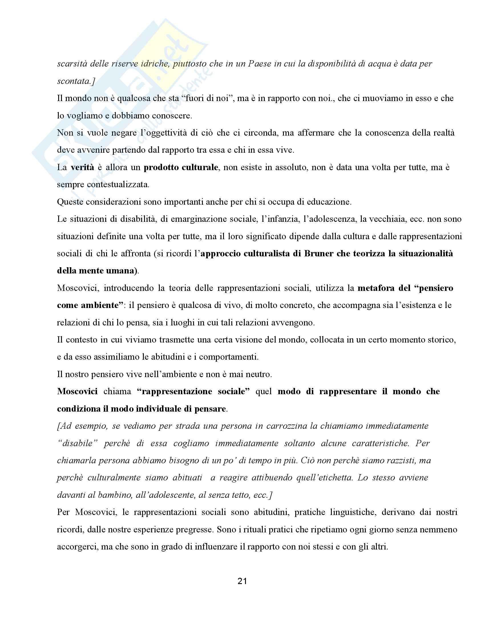 Riassunto esame Ppedagogia dell'inclusione, prof. Palmieri, libri consigliati Non di sola relazione - Un'esperienza di cui aver cura Pag. 21