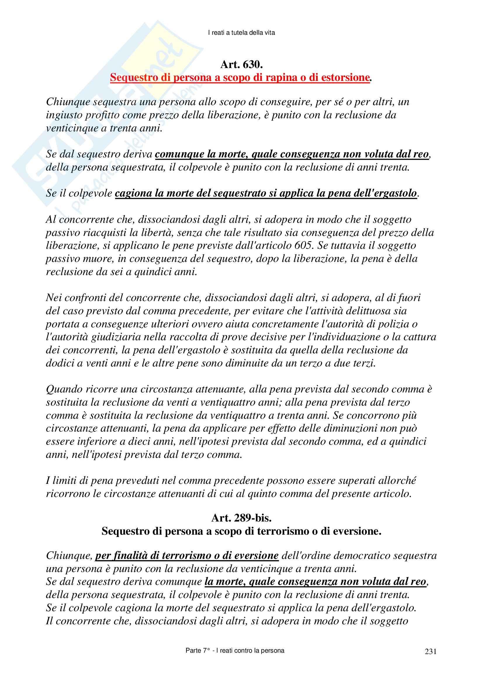 Diritto penale - delitti contro la persona Pag. 96