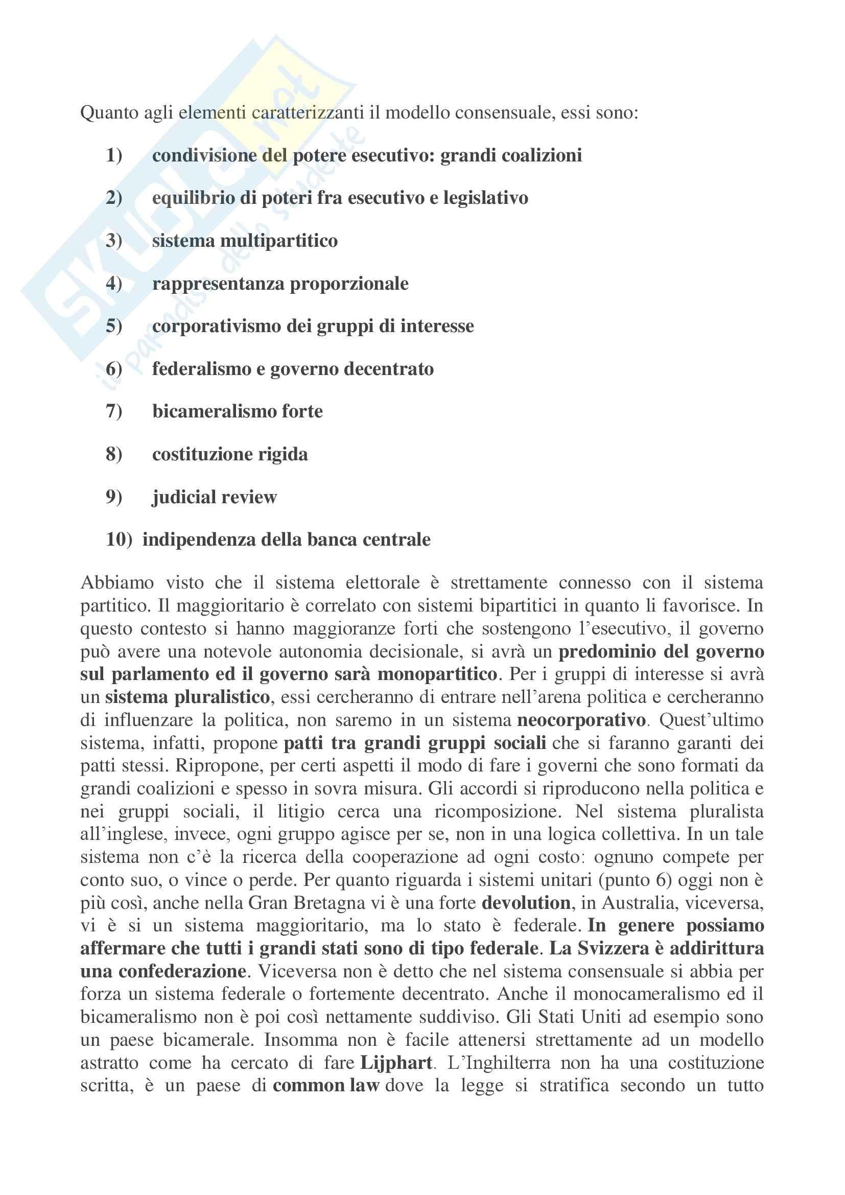 Scienza politica - i regimi democratici Pag. 11