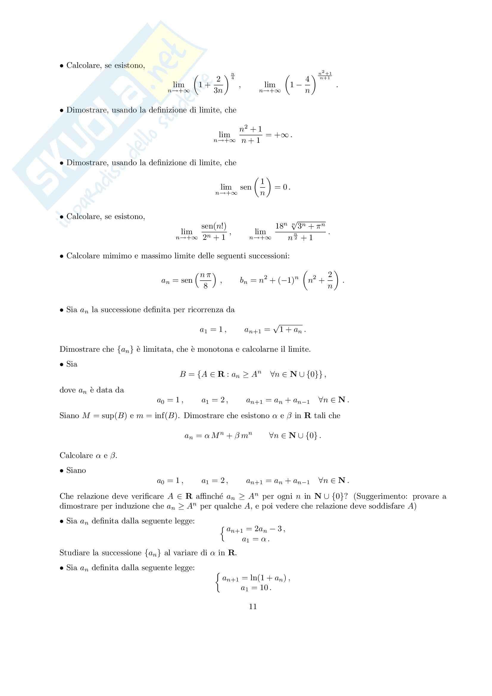 Matematica per Le applicazioni I - Esercitazione Pag. 11