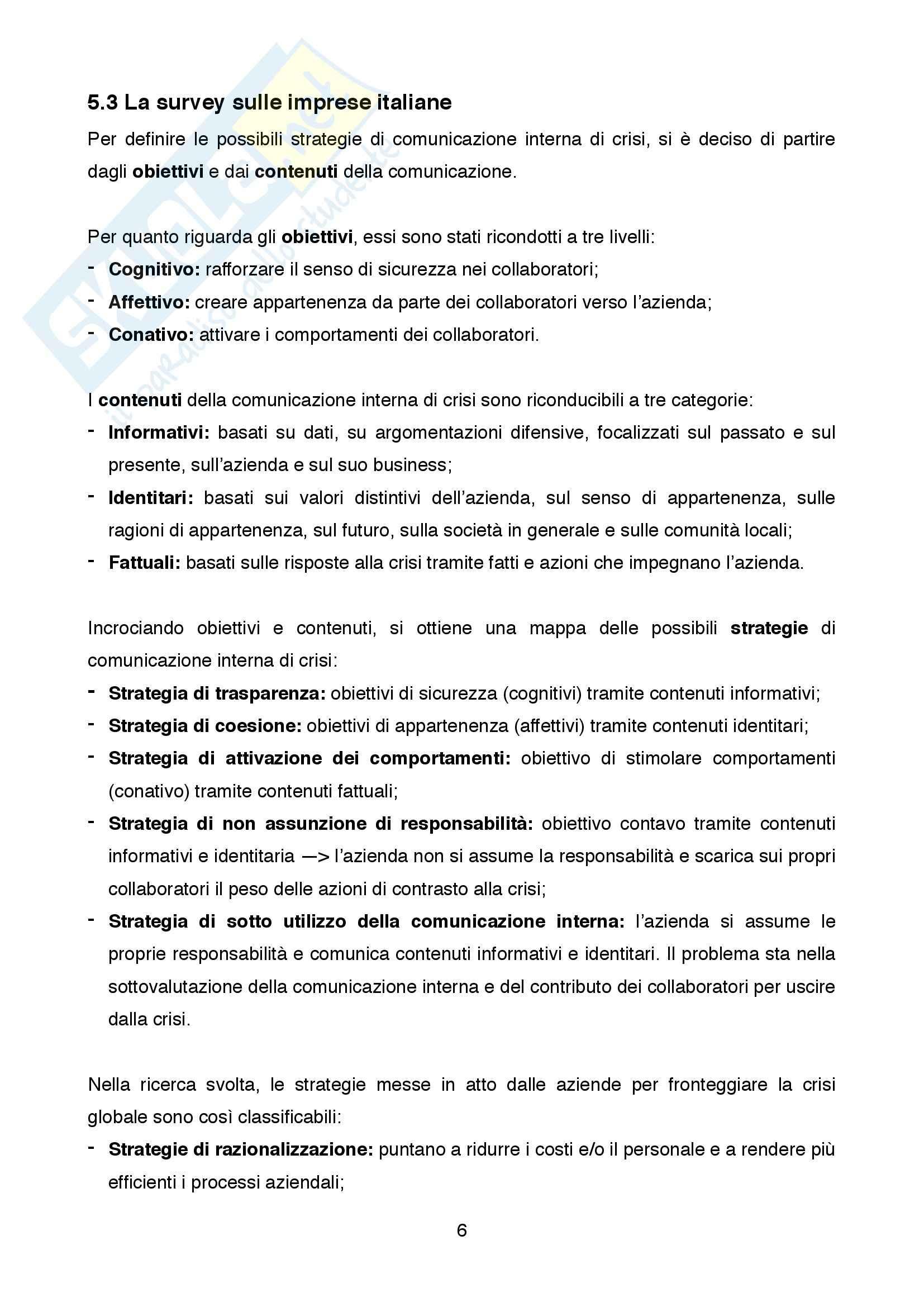 Riassunto esame Comunicazione d'Impresa, prof. Mazzei, libro consigliato Percorsi di ricerca in comunicazione d'impresa, Mazzei Pag. 6