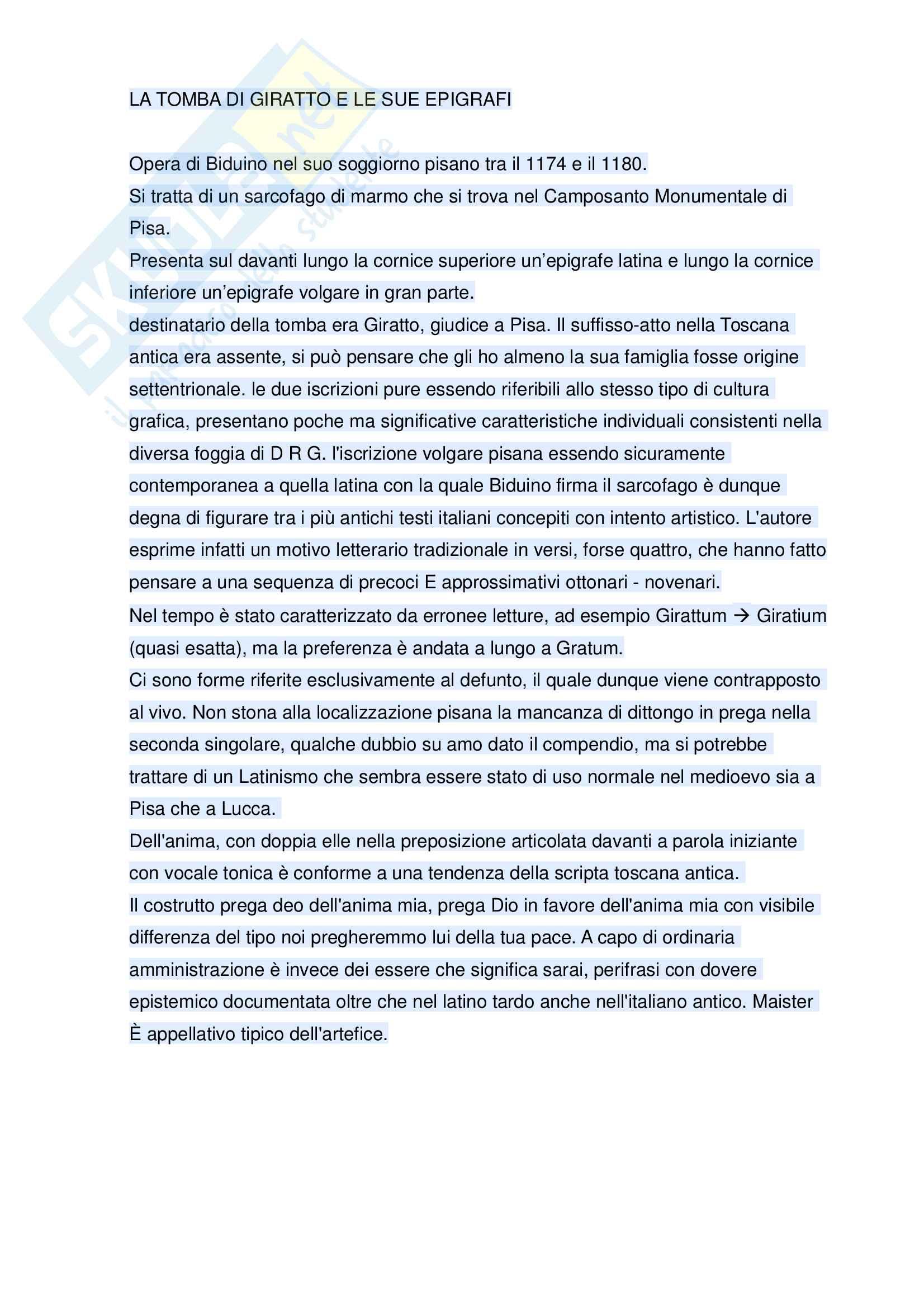Riassunto esame Storia della lingua italiana, prof. Formentin, libro consigliato Storia linguistica e storia letteraria, Stussi