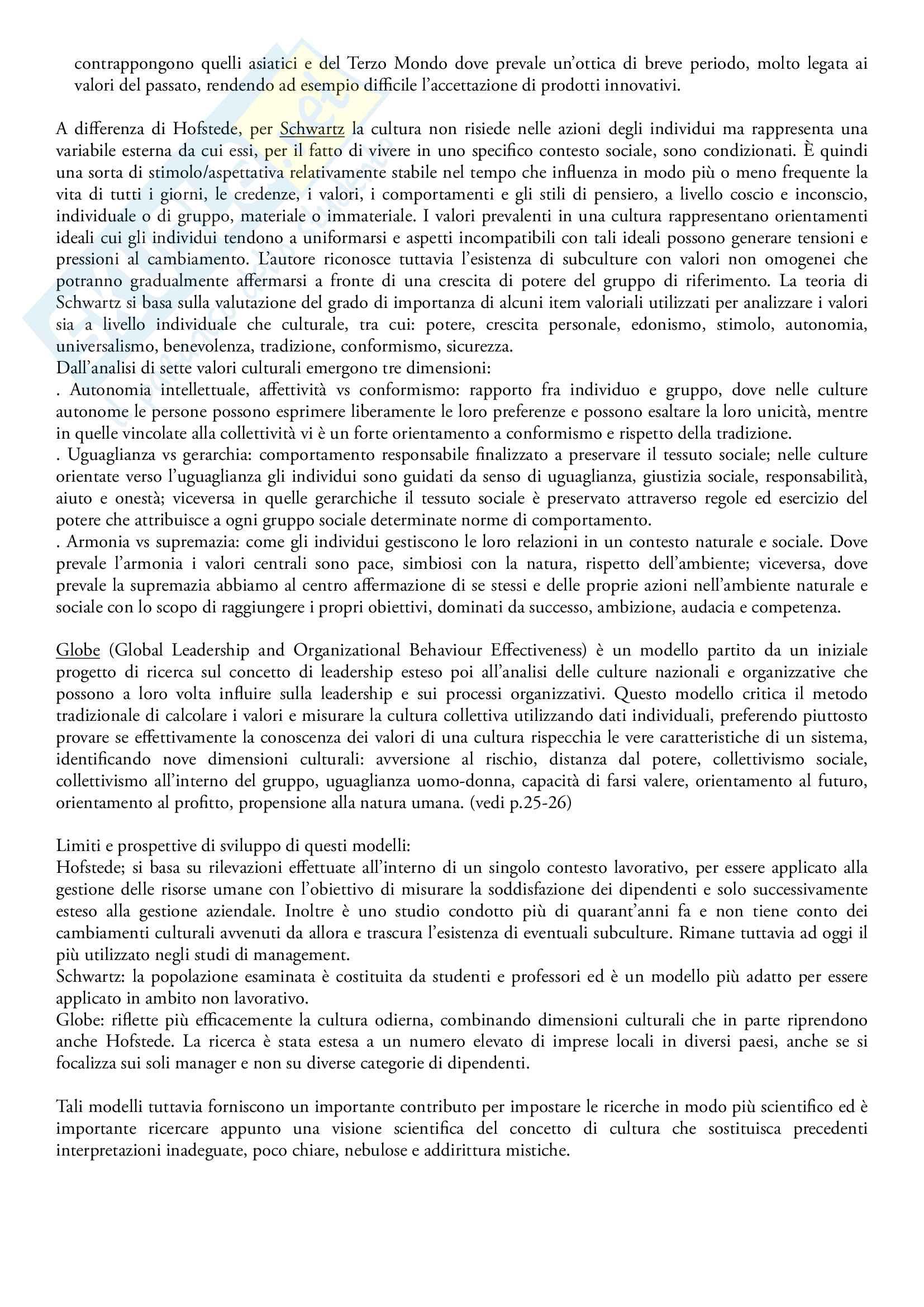 sunto Comunicazione internazionale, docente Linda Gabbianelli, libro consigliato Marketing e management interculturale, S. Guercini Pag. 2