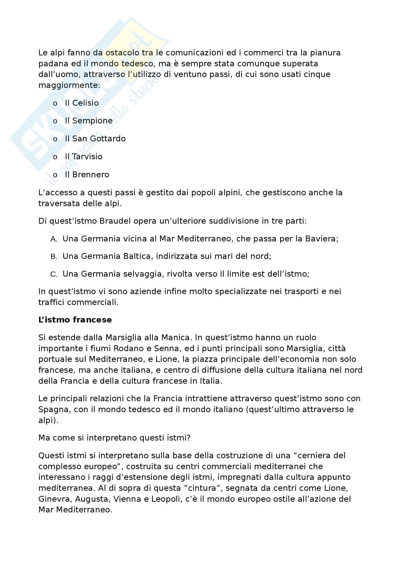 Riassunto esame Geografia Storica, prof. Pase, libro consigliato Civiltà ed Imperi del Mediterraneo nell'Età di Filippo II, Braudel Pag. 21