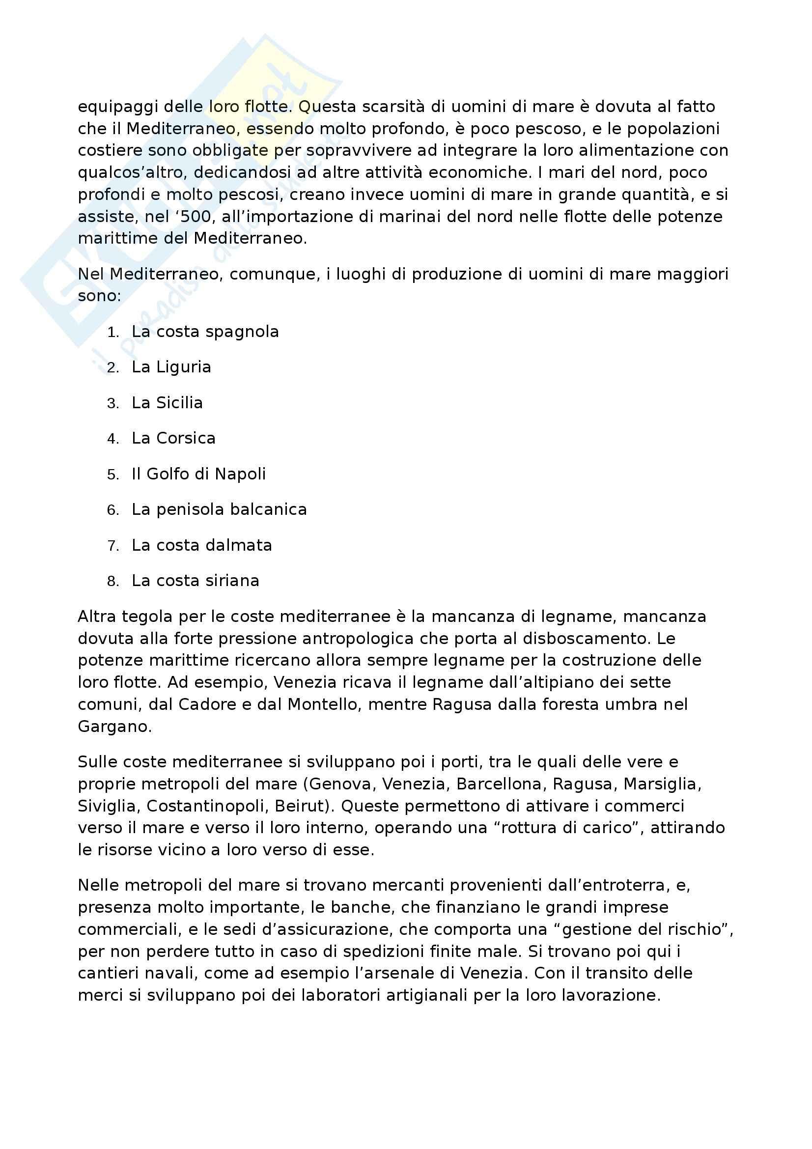Riassunto esame Geografia Storica, prof. Pase, libro consigliato Civiltà ed Imperi del Mediterraneo nell'Età di Filippo II, Braudel Pag. 26
