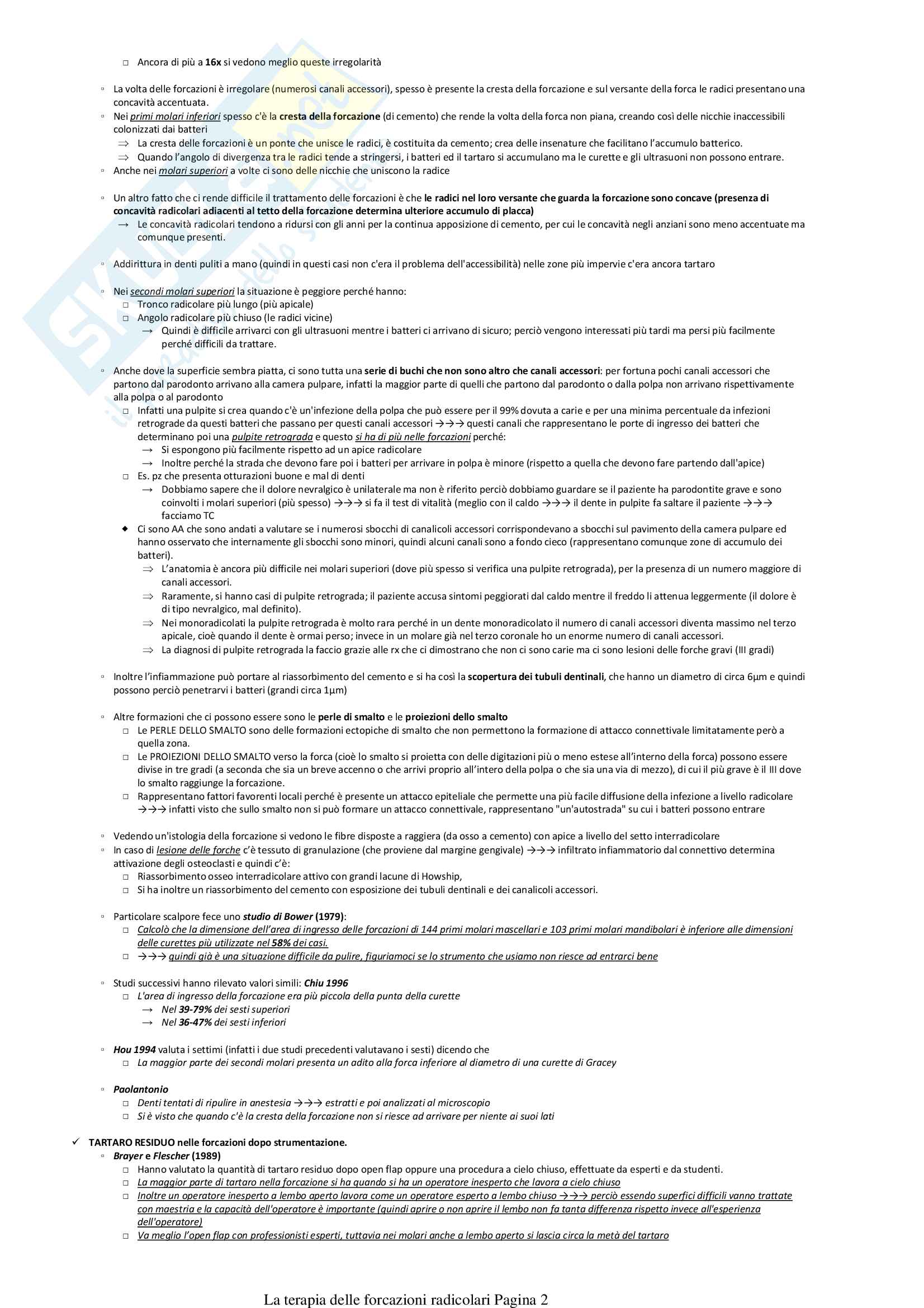 La terapia delle forcazioni radicolari Pag. 2