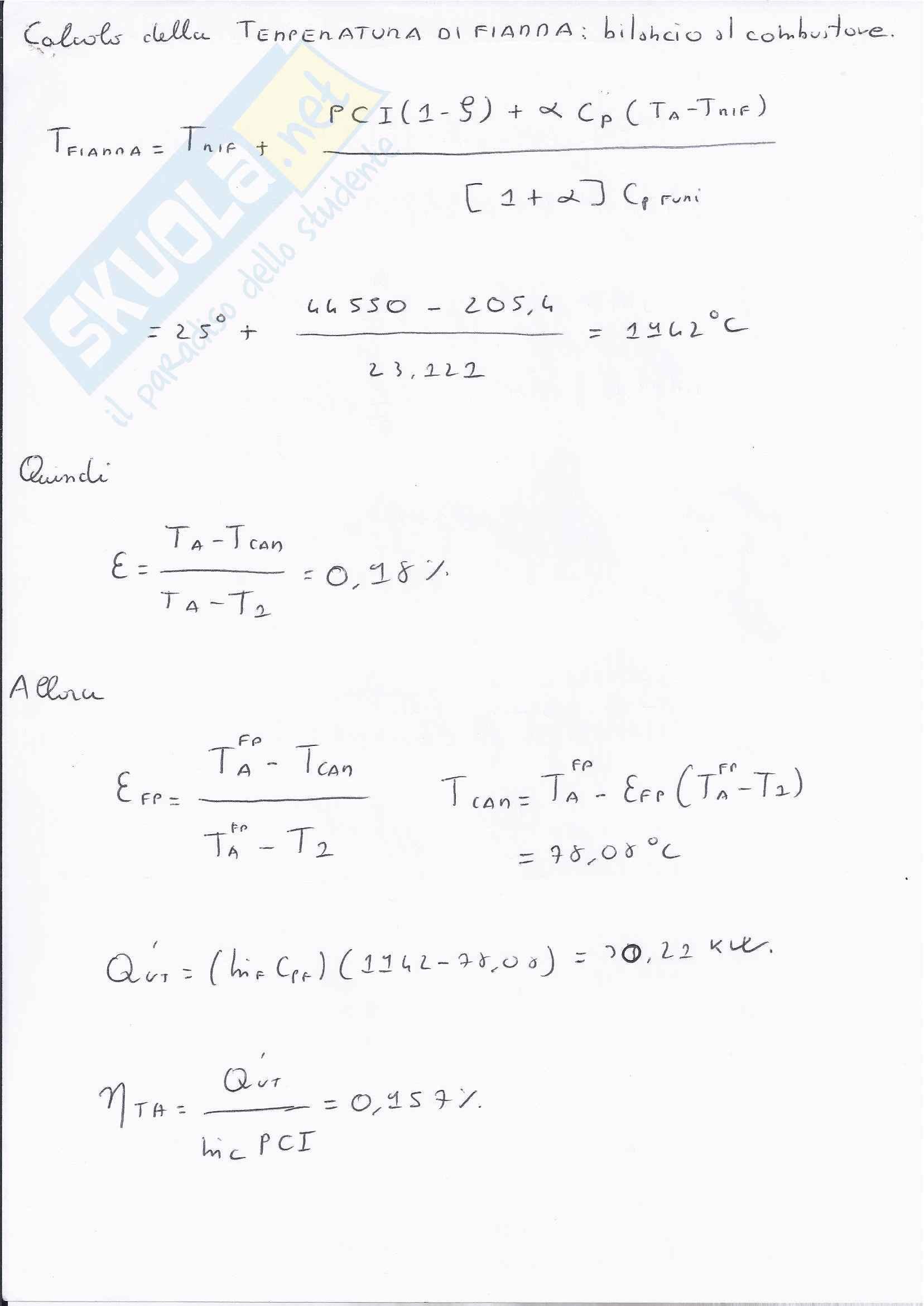 Sistemi energetici  - esame svolto fine settembre 2012 Pag. 11
