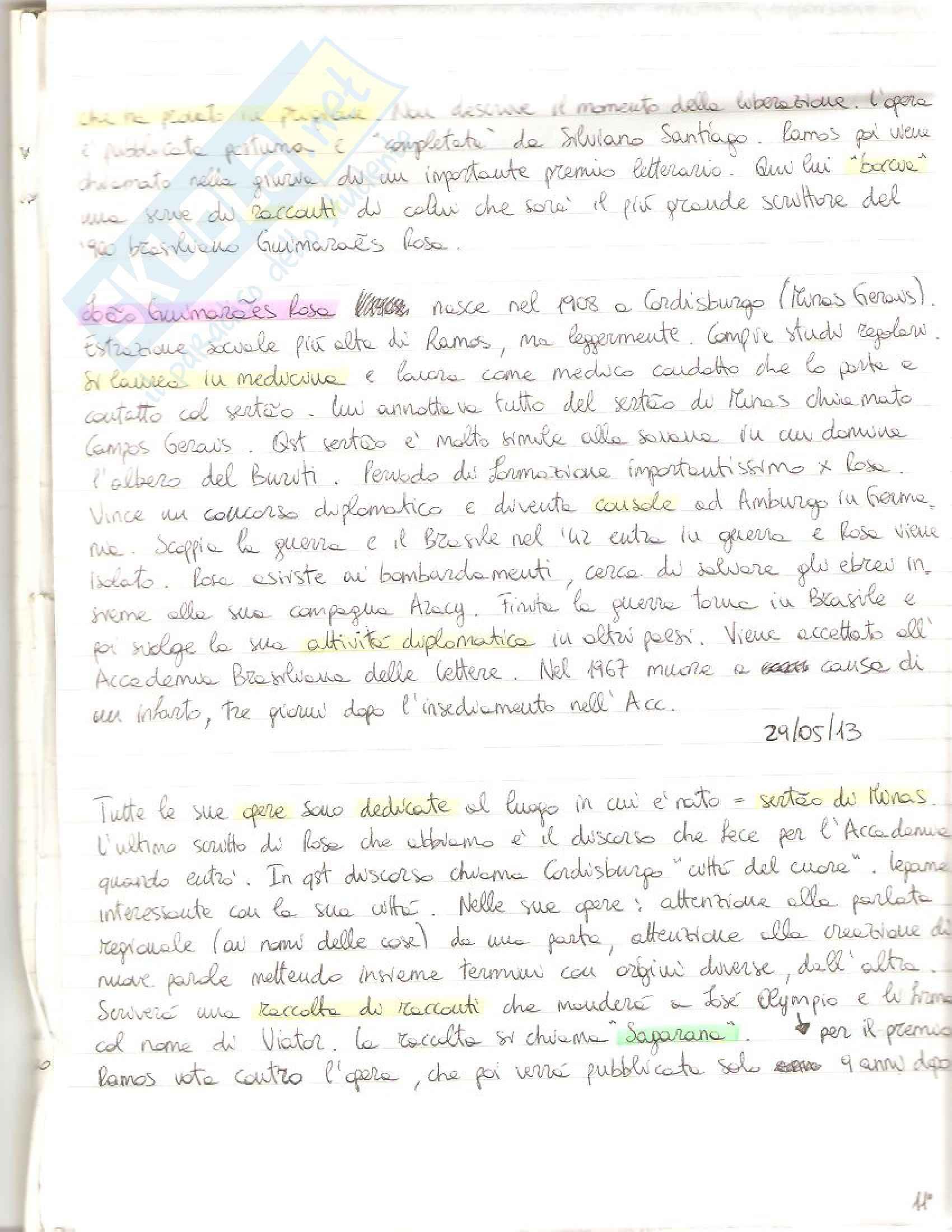 Letteratura portoghese e brasiliana-O.de Andrade-M.de Andrade-G.Rosa-D.de Andrade-C. Lispector Pag. 6