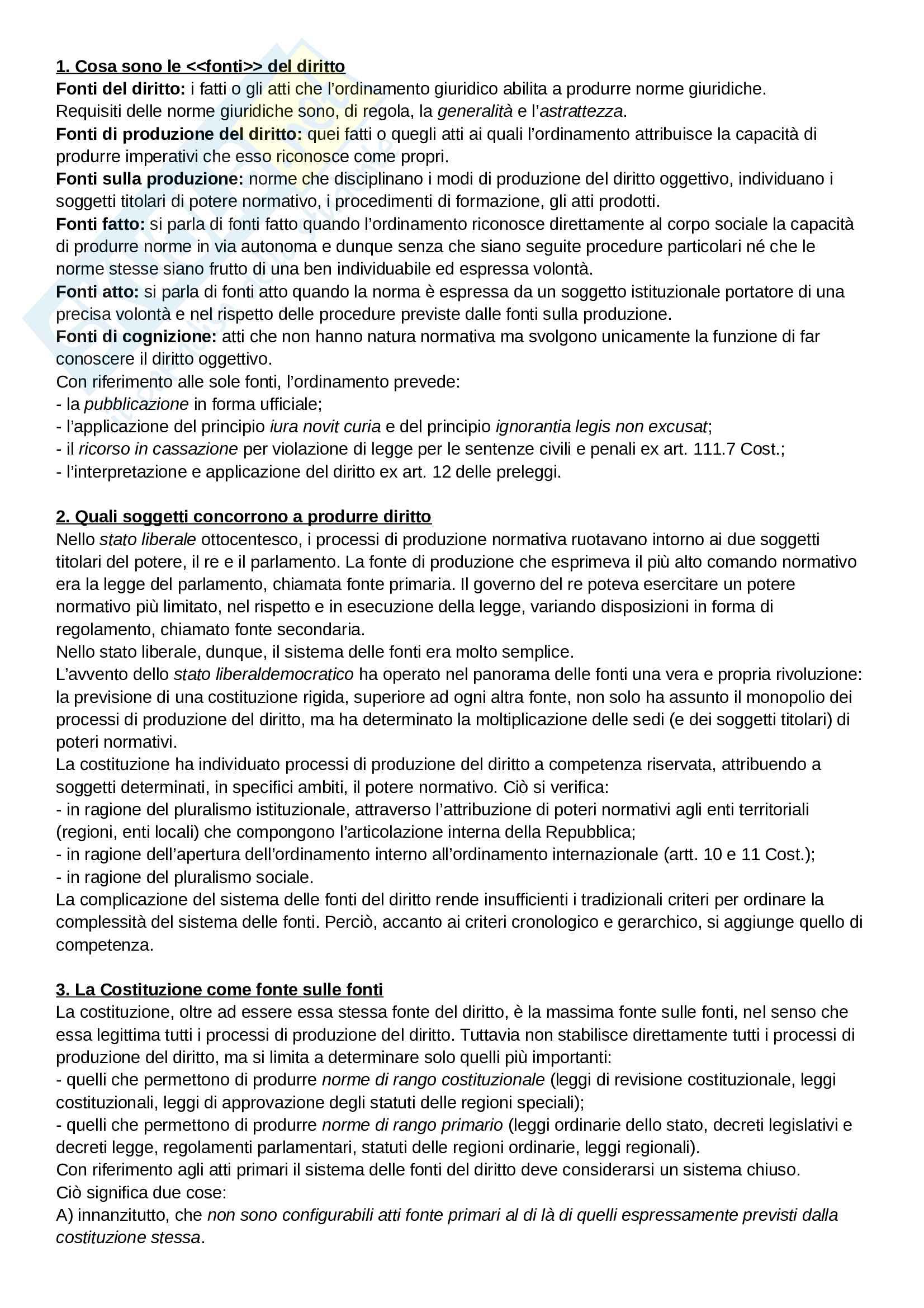 Riassunto esame Diritto Costituzionale, prof. Giupponi, libro consigliato Corso di Diritto Costituzionale di A.Barbera e C.Fusaro Pag. 21