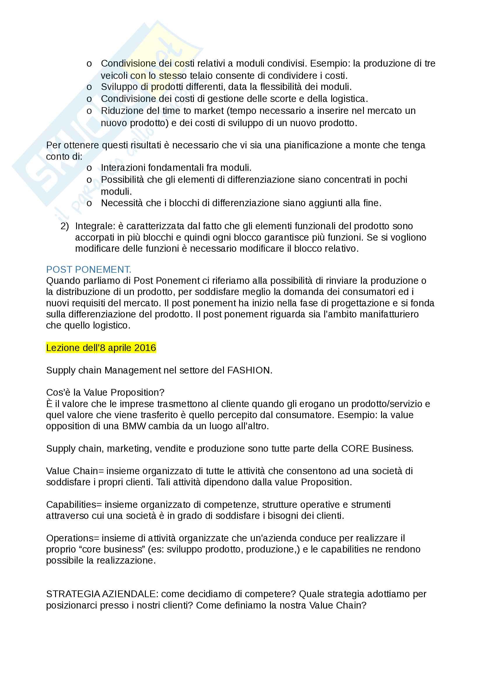 """Riassunto esame economia e gestione d'impresa (EGI), prof. Crespi, Serio e Baroncelli. Libri consigliati:""""Economia e gestione delle imprese"""" e """"Operations Management"""" Pag. 26"""