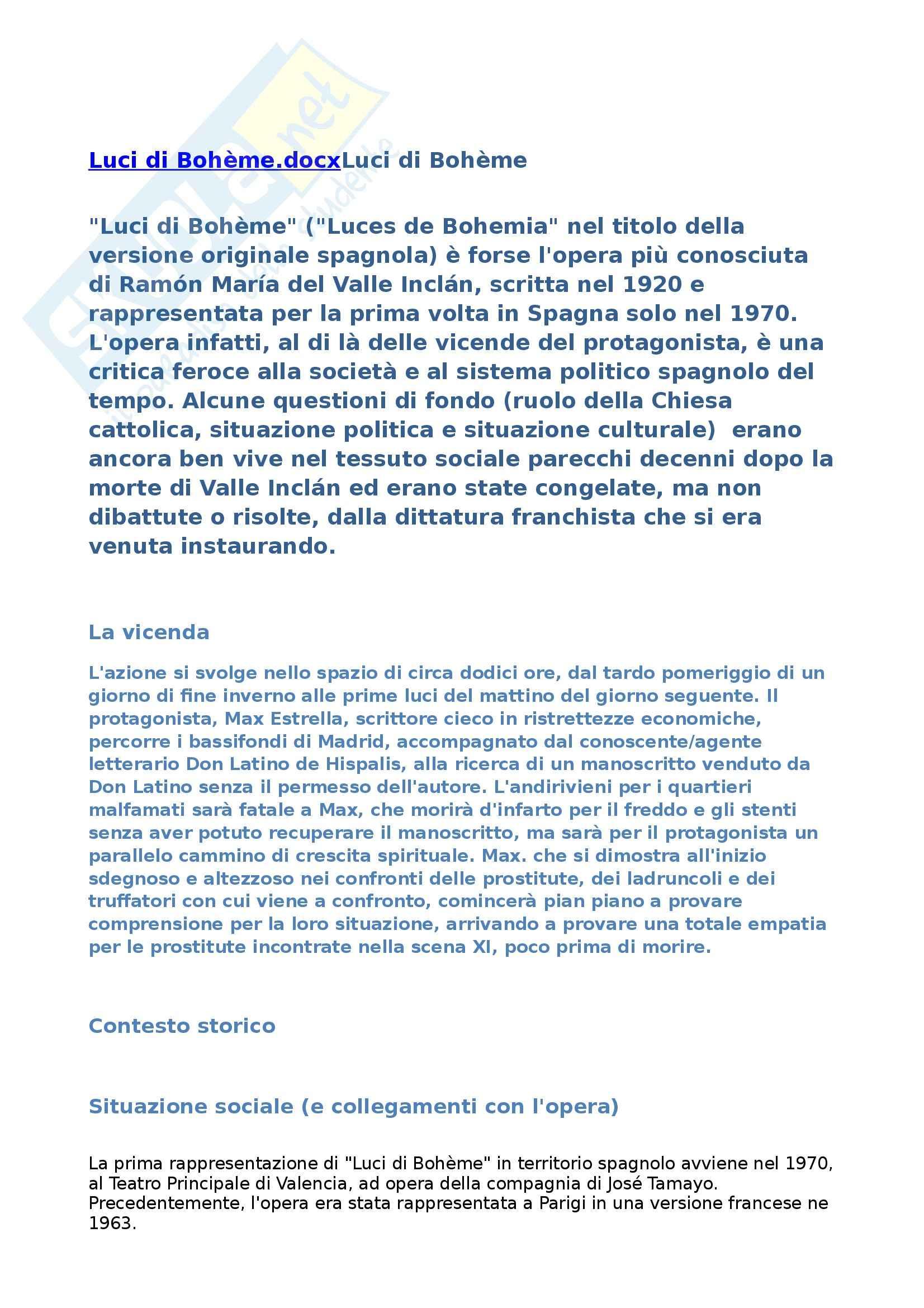 appunto M. Trambaioli Letteratura spagnola 1