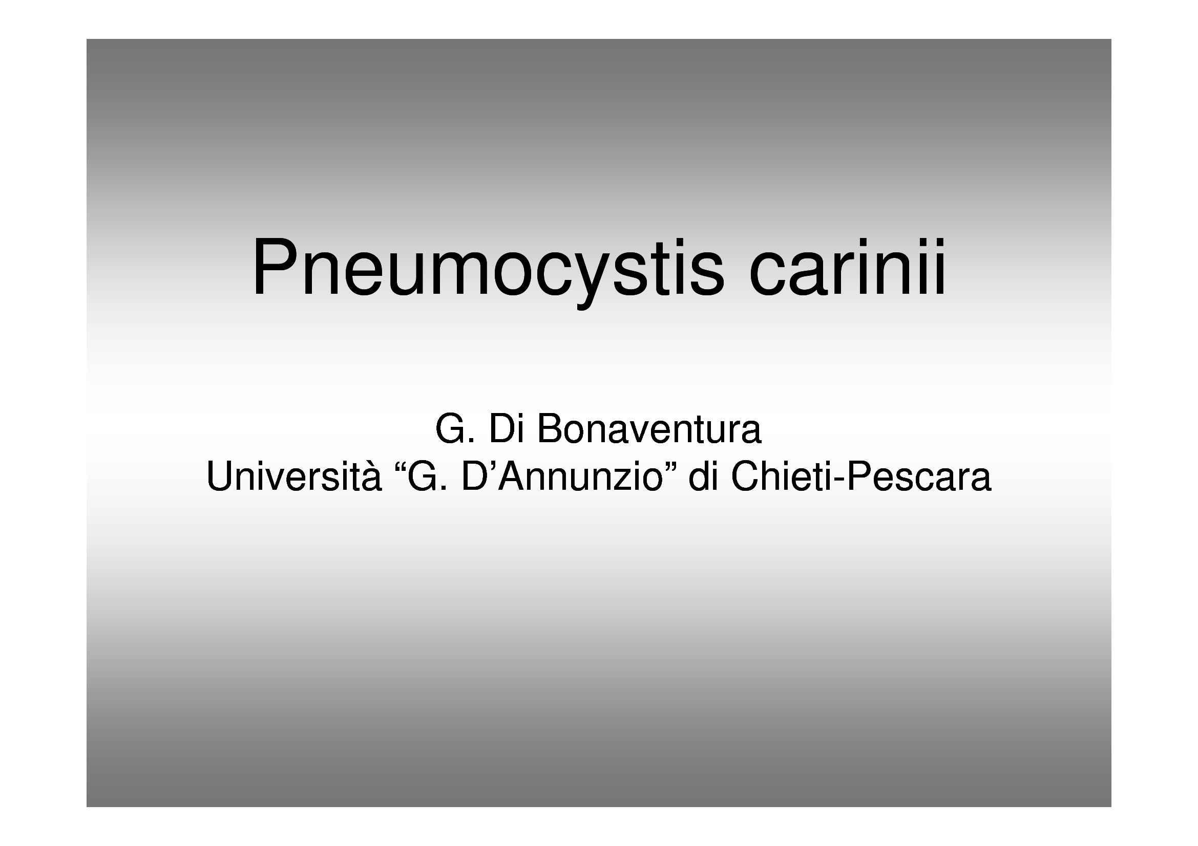 Pneumocystis carinii