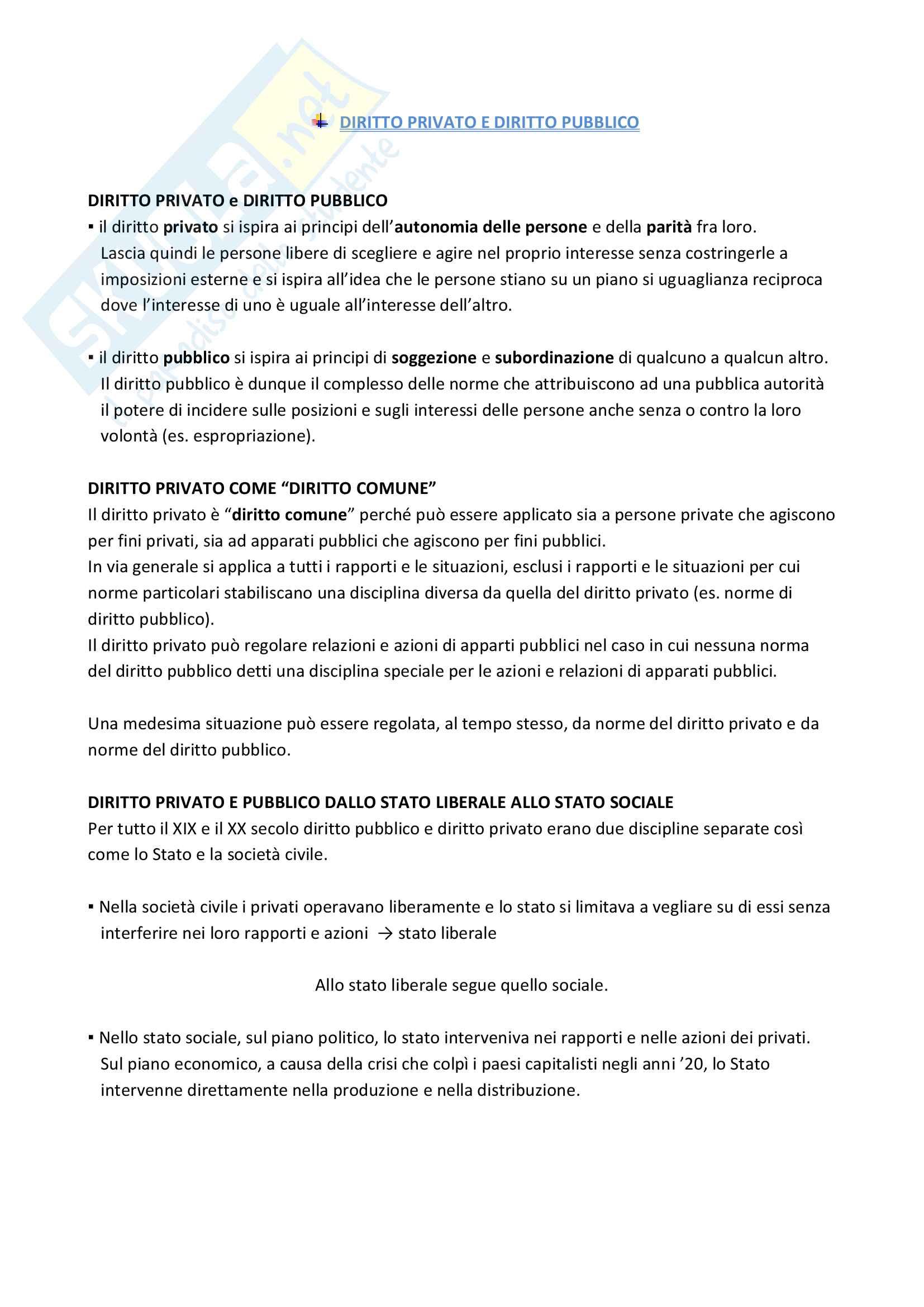 Riassunto esame Diritto privato 1, Prof. V. Di Gregorio, libro consigliato Diritto Privato di V. Roppo Pag. 6