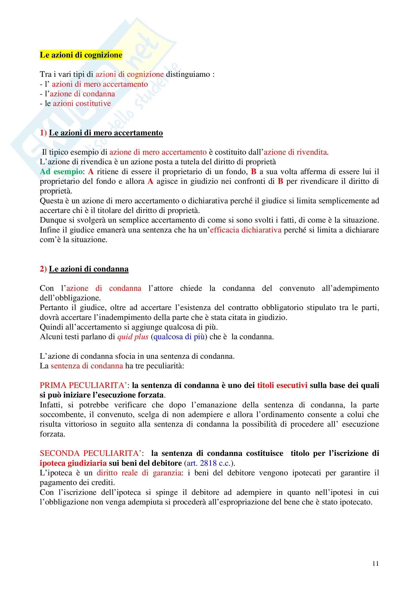 Diritto processuale civile - Appunti Pag. 11