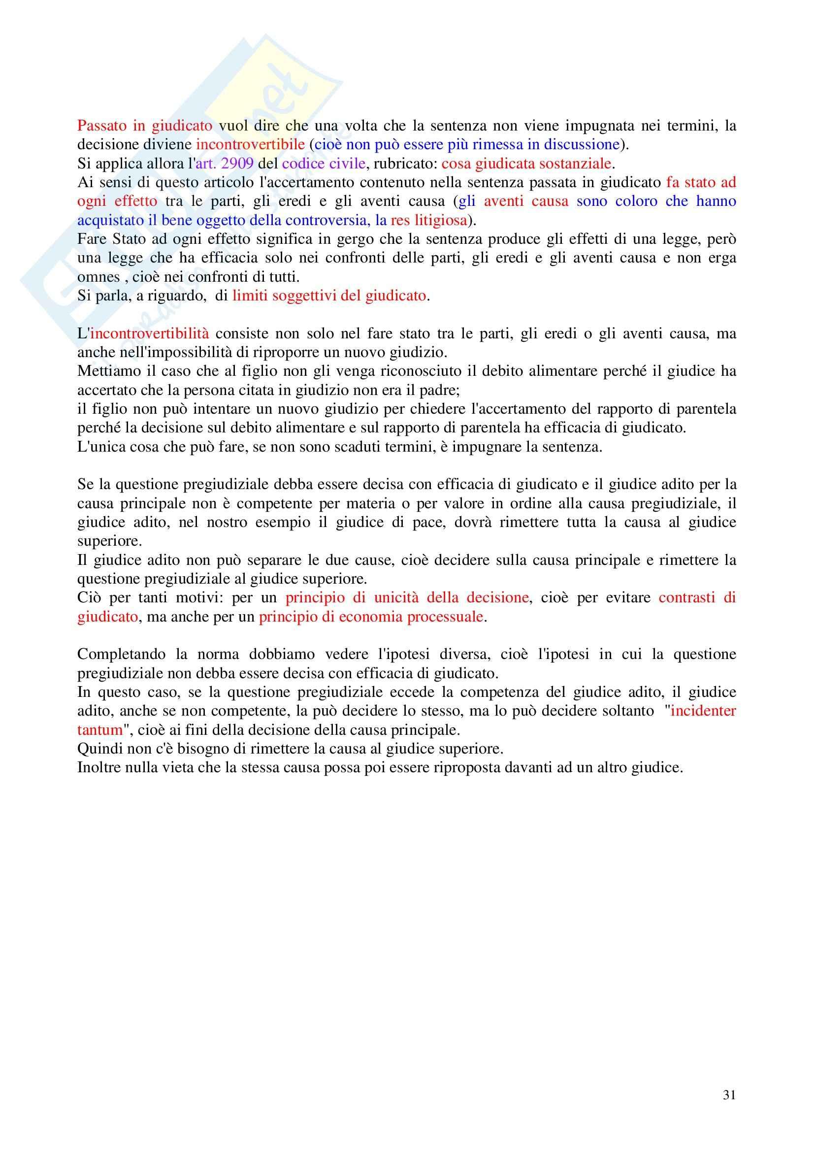 Diritto processuale civile - Appunti Pag. 31