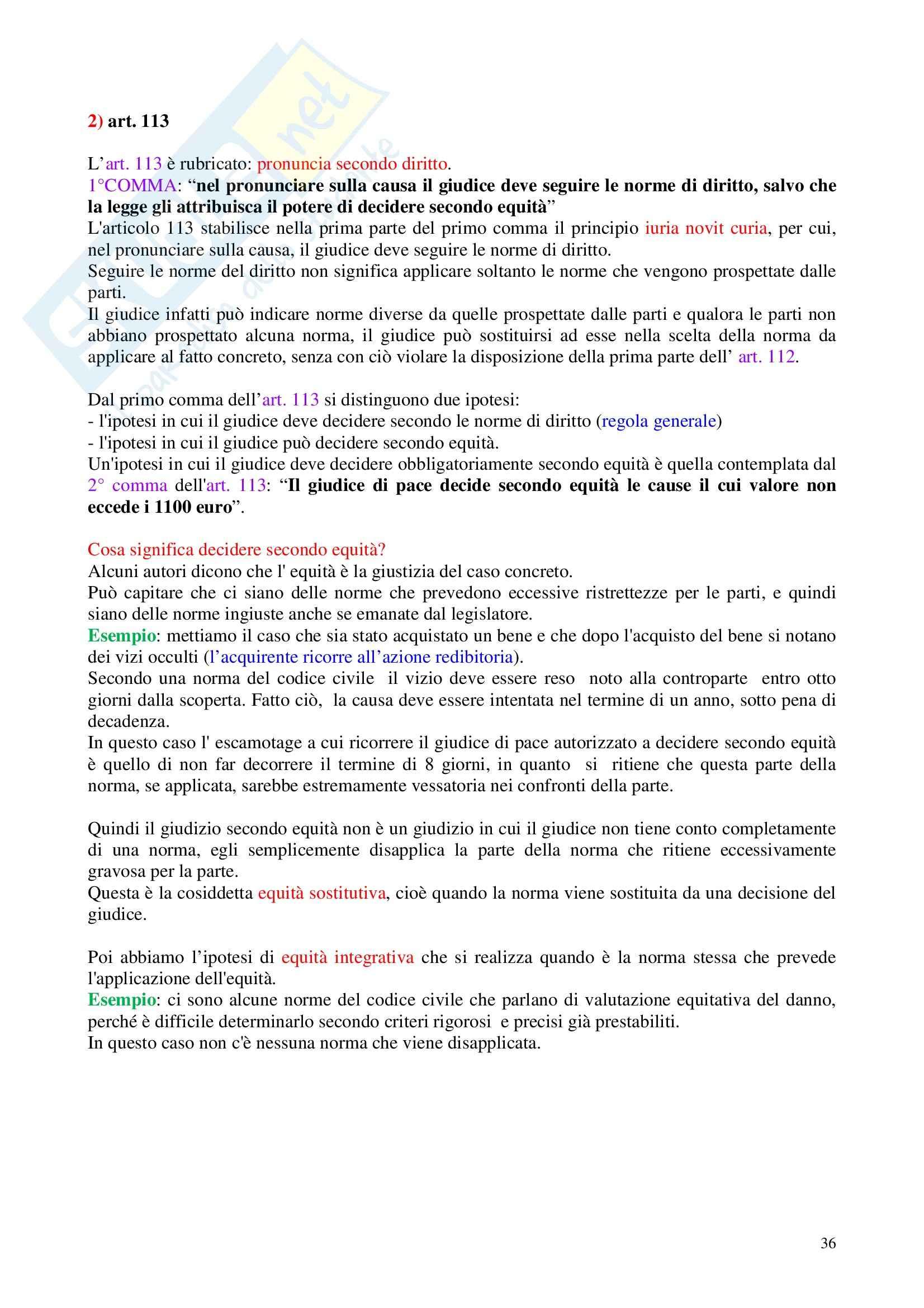 Diritto processuale civile - Appunti Pag. 36