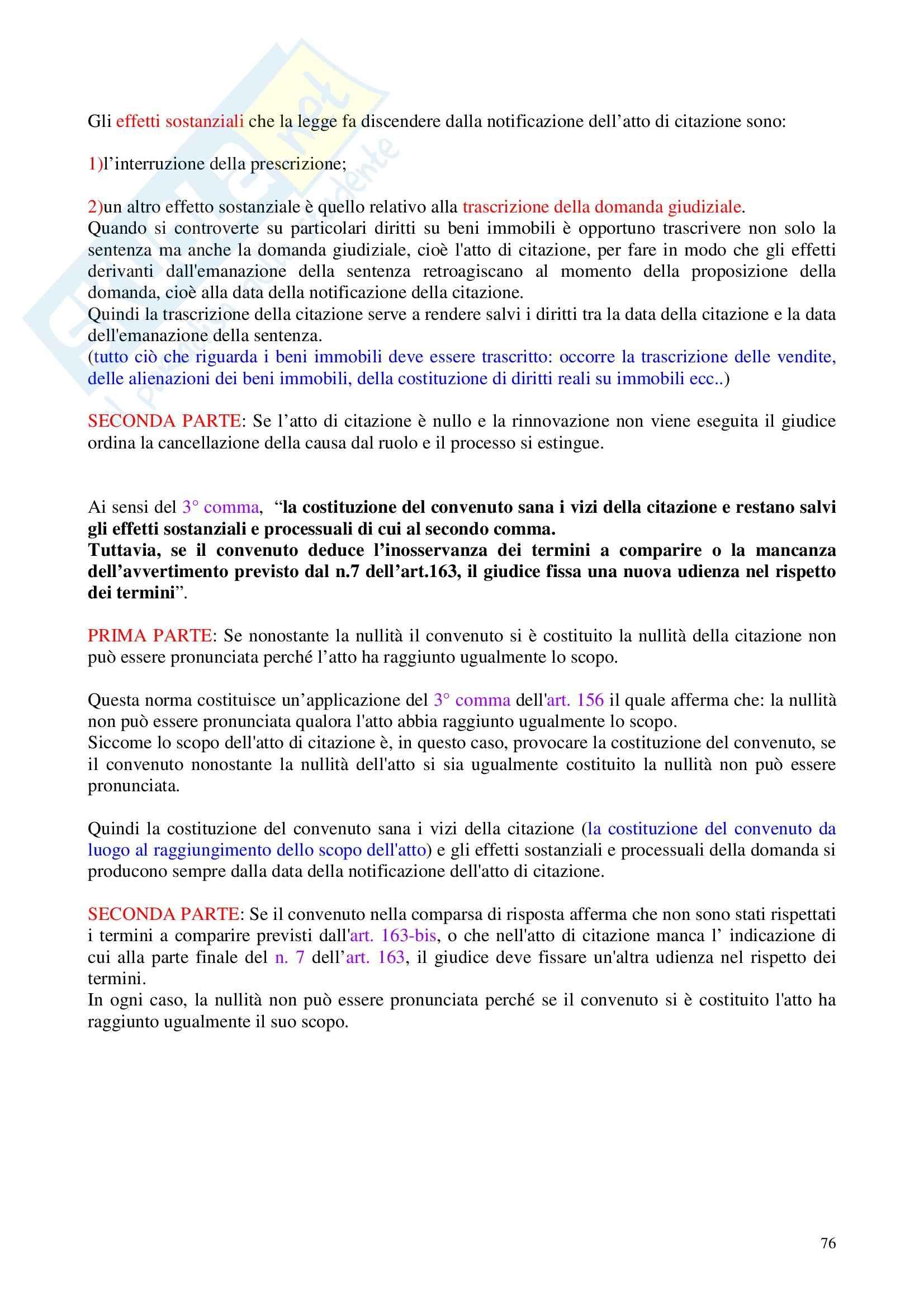 Diritto processuale civile - Appunti Pag. 76