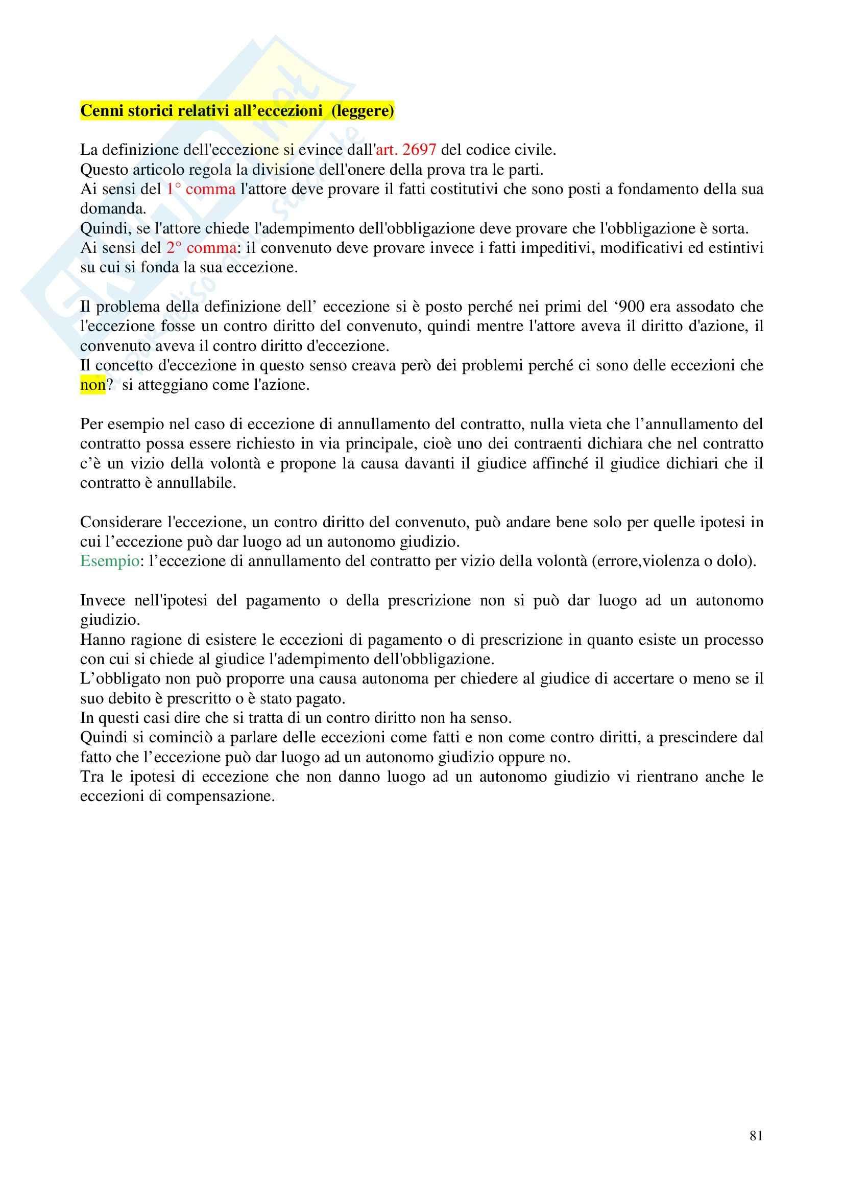 Diritto processuale civile - Appunti Pag. 81