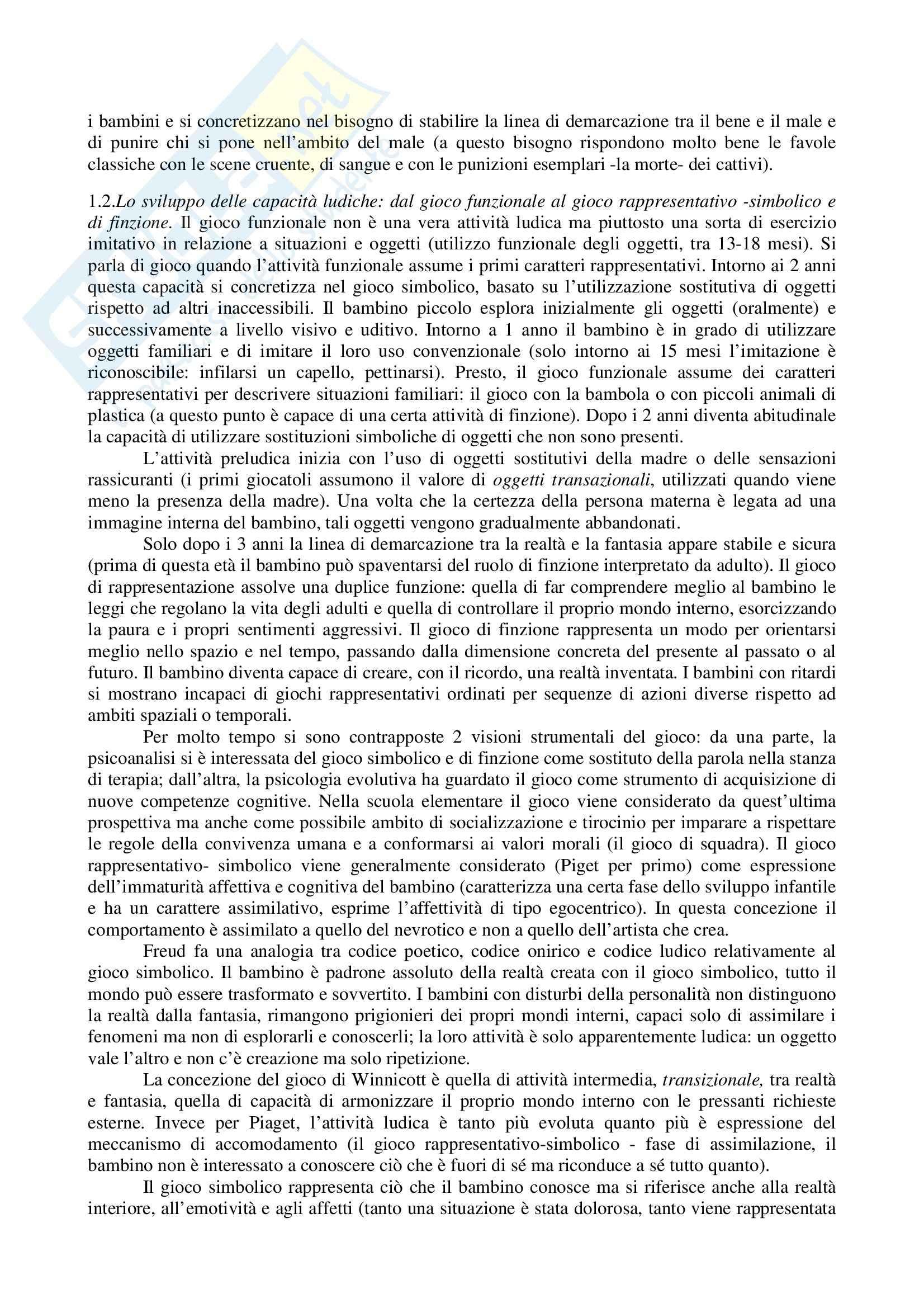 Riassunto esame Pedagogia speciale per l'infanzia, prof. Biagioli, libro consigliato Introduzione alla pedagogia speciale, Trisciuzzi, Fratini, Galanti Pag. 11