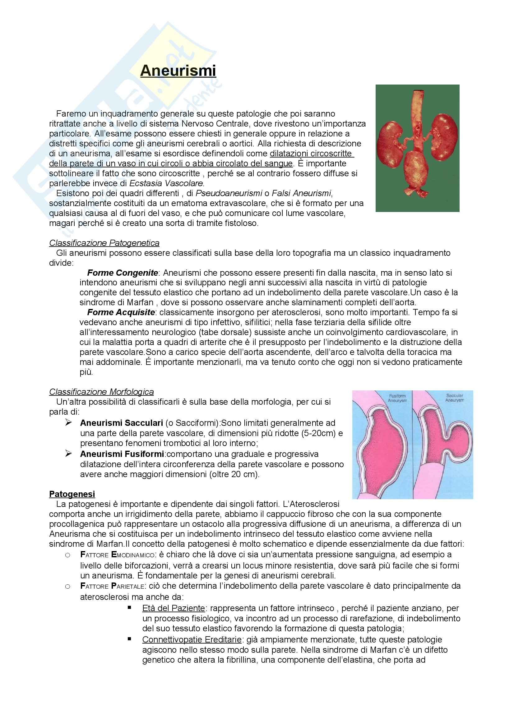 Anatomia Patologica - Patologia cardiovascolare
