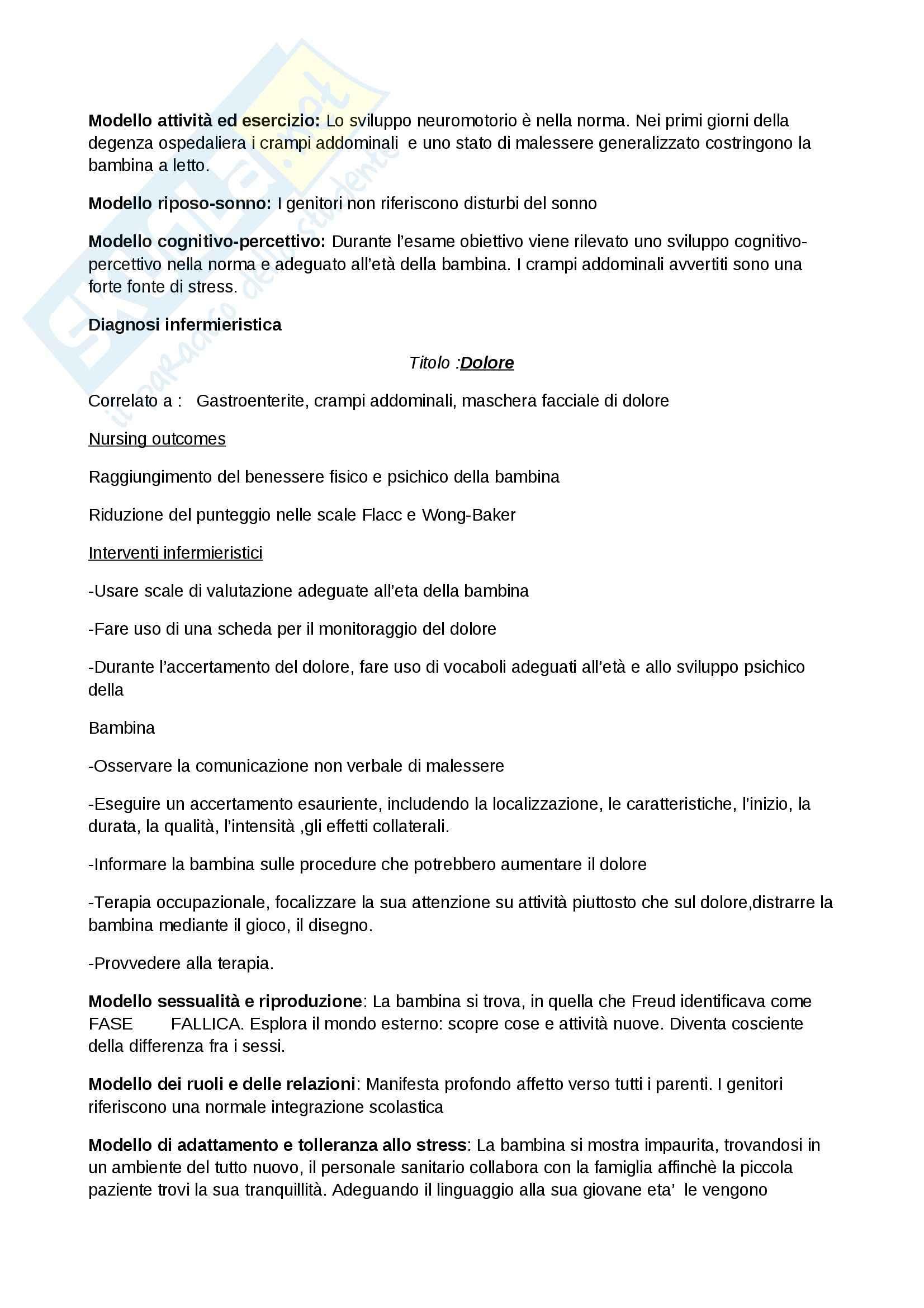 Caso clinico pediatrico: Paziente con gastroenterite, Tesi Pag. 11