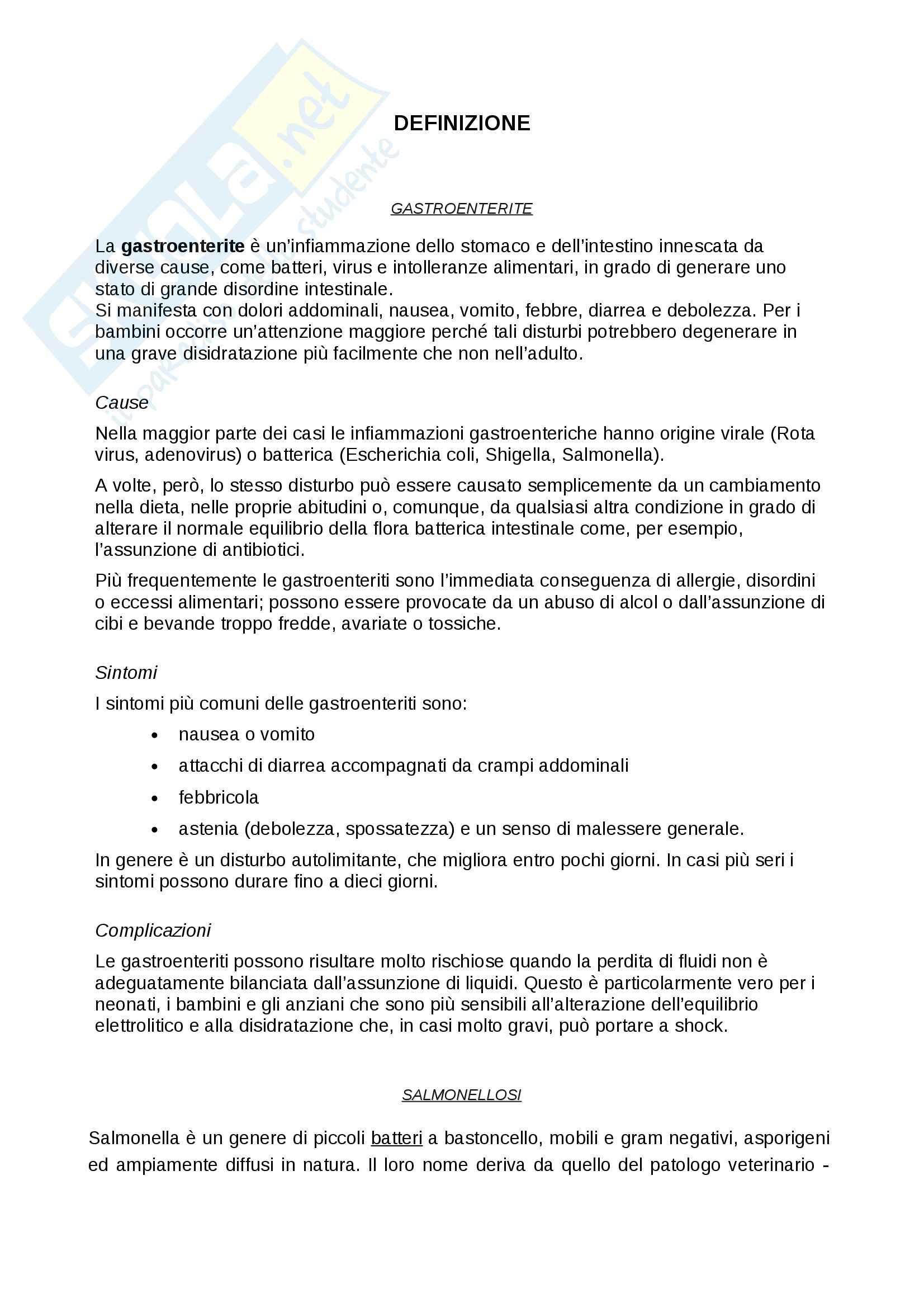 Caso clinico pediatrico: Paziente con gastroenterite, Tesi Pag. 6