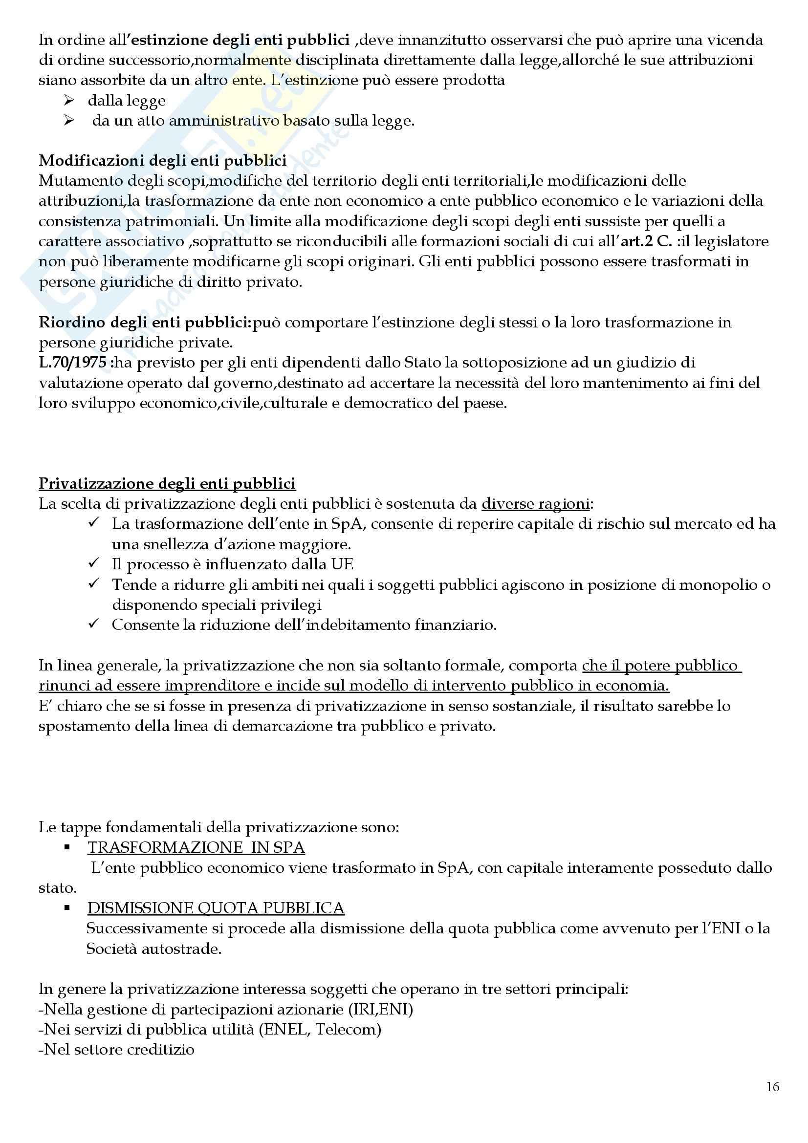 Riassunto esame Diritto Amministrativo II, prof. Meale, libro consigliato Compendio di Diritto Amministrativo, Casetta Pag. 16
