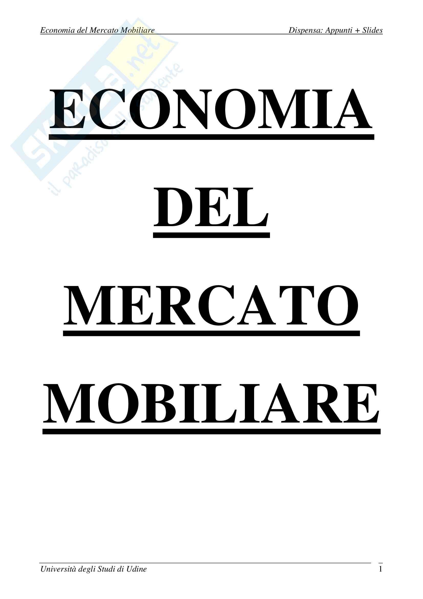 appunto M. Polato Economia del Mercato Mobiliare