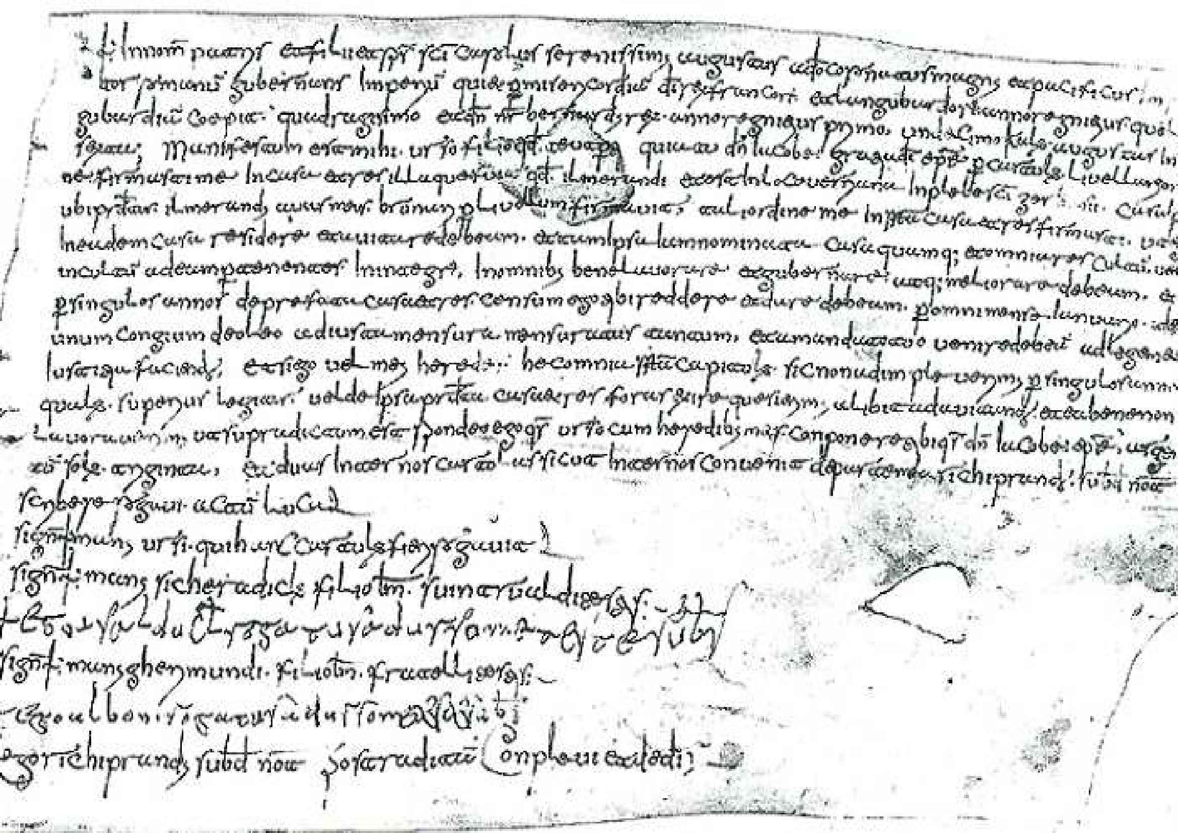 Lucca, Archivio Arcivescovile, Diplomatico, nr. 403 (+ D 81) Pag. 1
