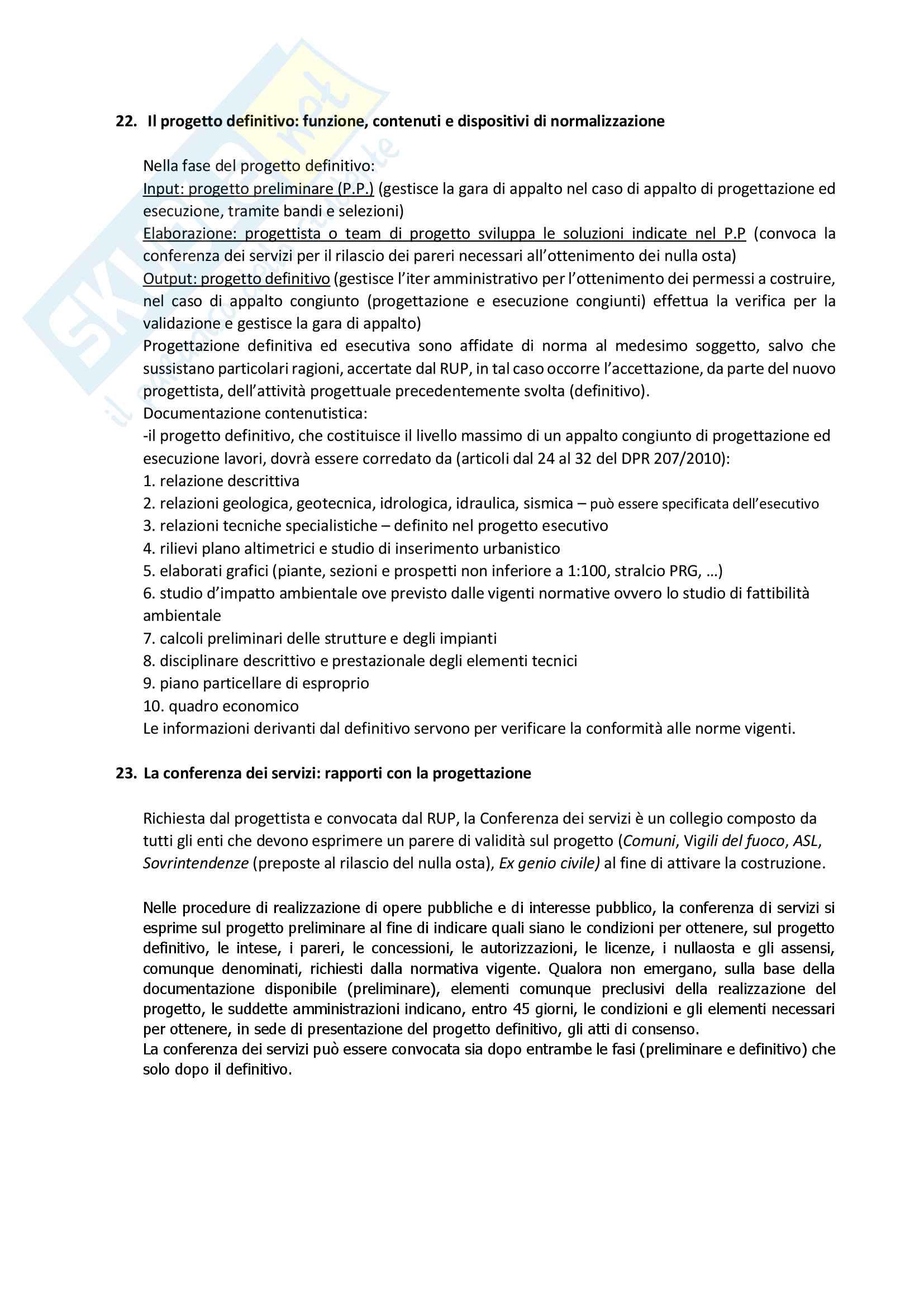 Gestione e tecnologia del progetto Pag. 66