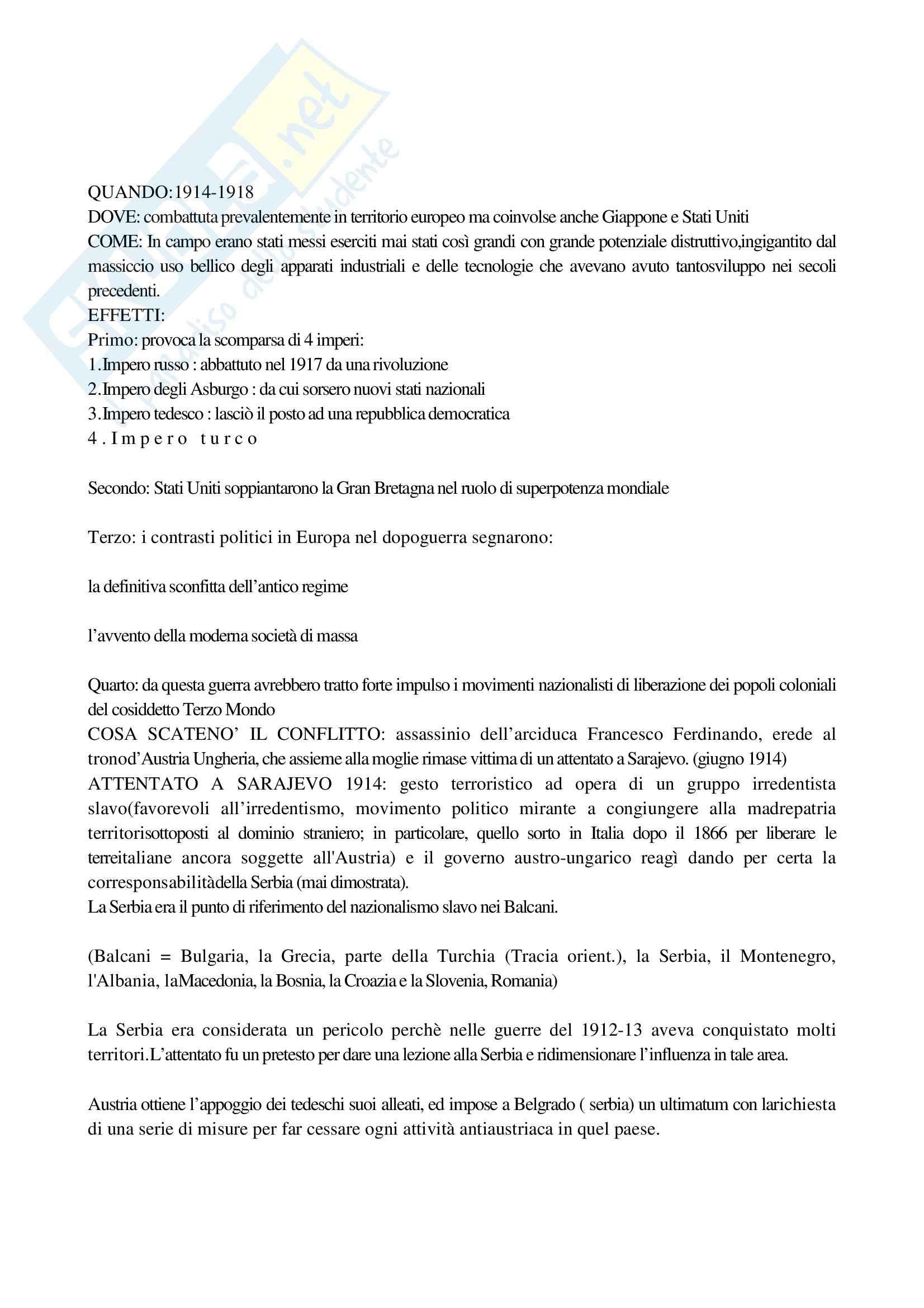 Riassunto esame Storia Contemporanea 1, prof. Macry, libro consigliato Storia Contemporanea, Detti, Gozzini