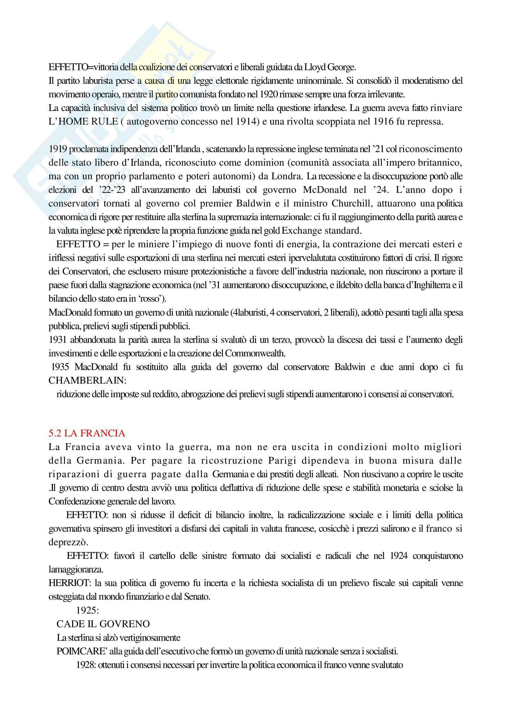 Riassunto esame Storia Contemporanea 1, prof. Macry, libro consigliato Storia Contemporanea, Detti, Gozzini Pag. 31