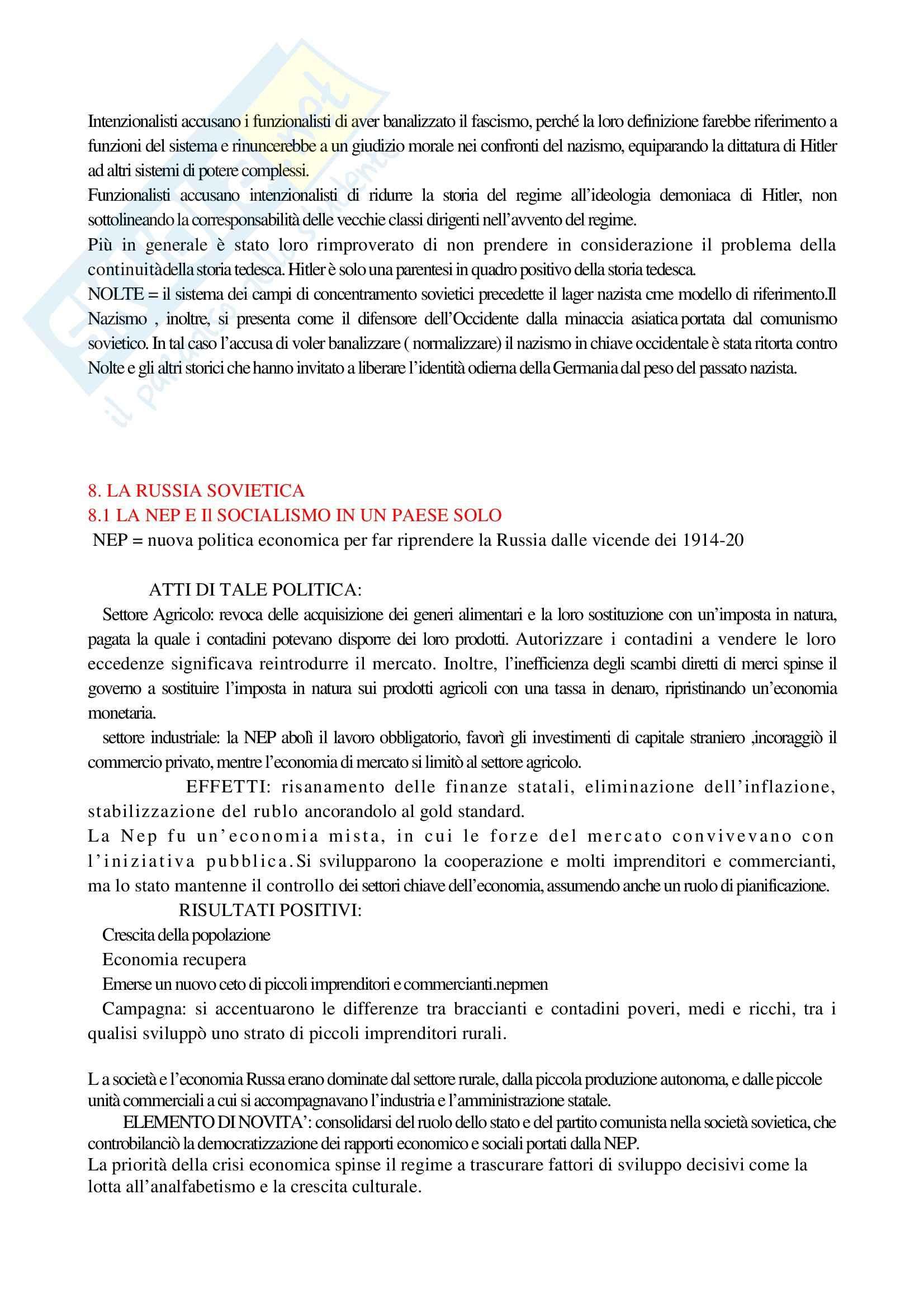 Riassunto esame Storia Contemporanea 1, prof. Macry, libro consigliato Storia Contemporanea, Detti, Gozzini Pag. 46