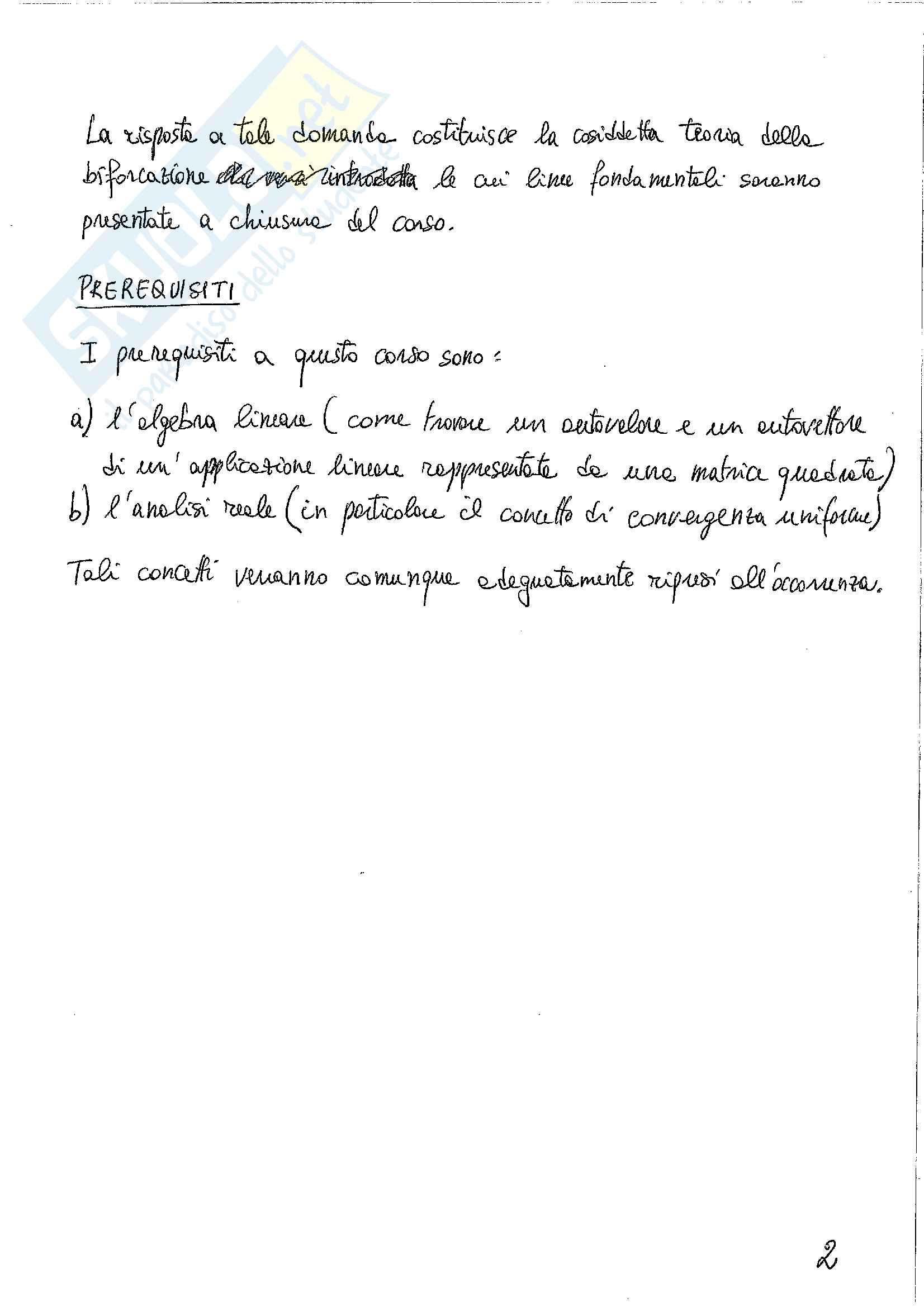 Biforcazione - Teoria Pag. 2