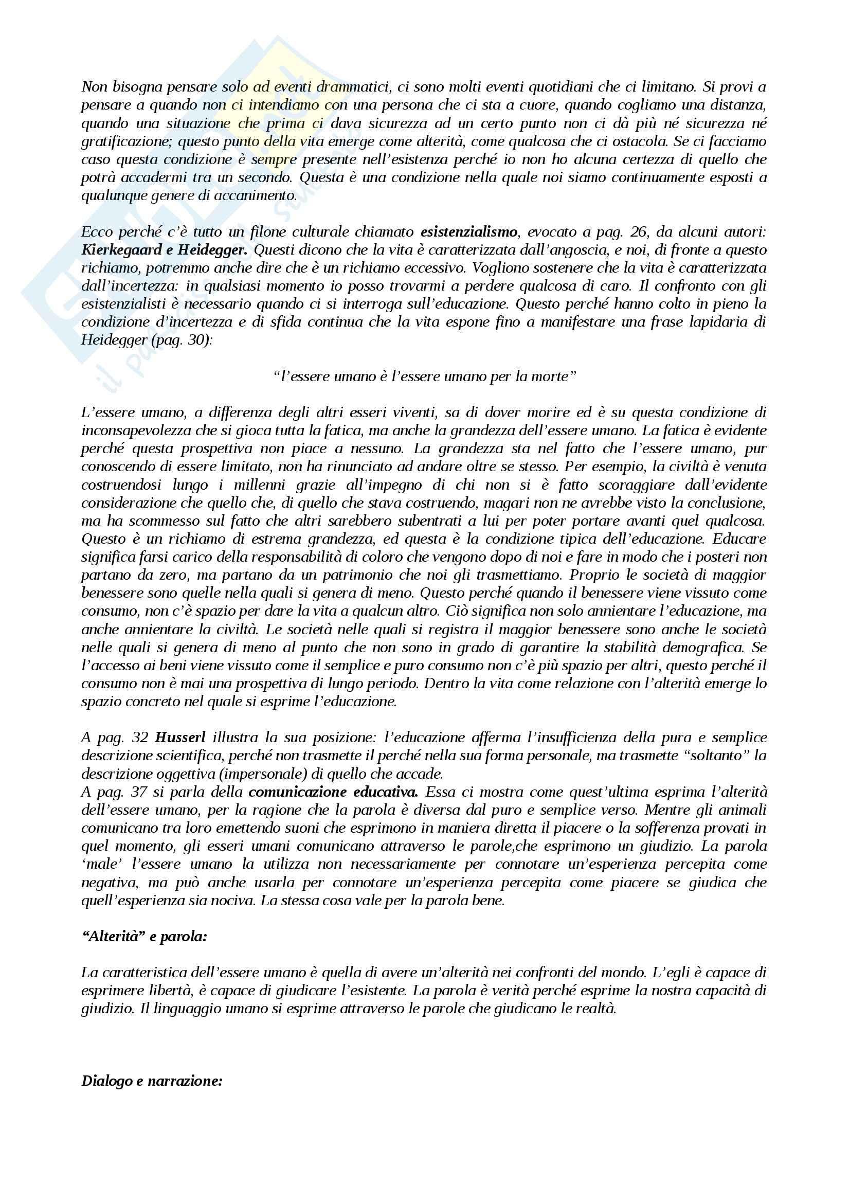 Riassunto esame Pedagogia, prof. Mari, libro consigliato Razionalità Metafisica e Pensare Pedagogico Pag. 2