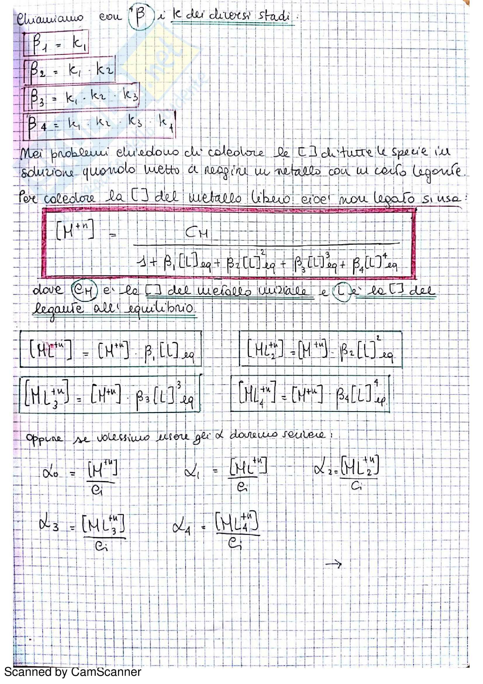 Appunti completi di chimica analitica comprensivi di esercizi d'esame Pag. 31