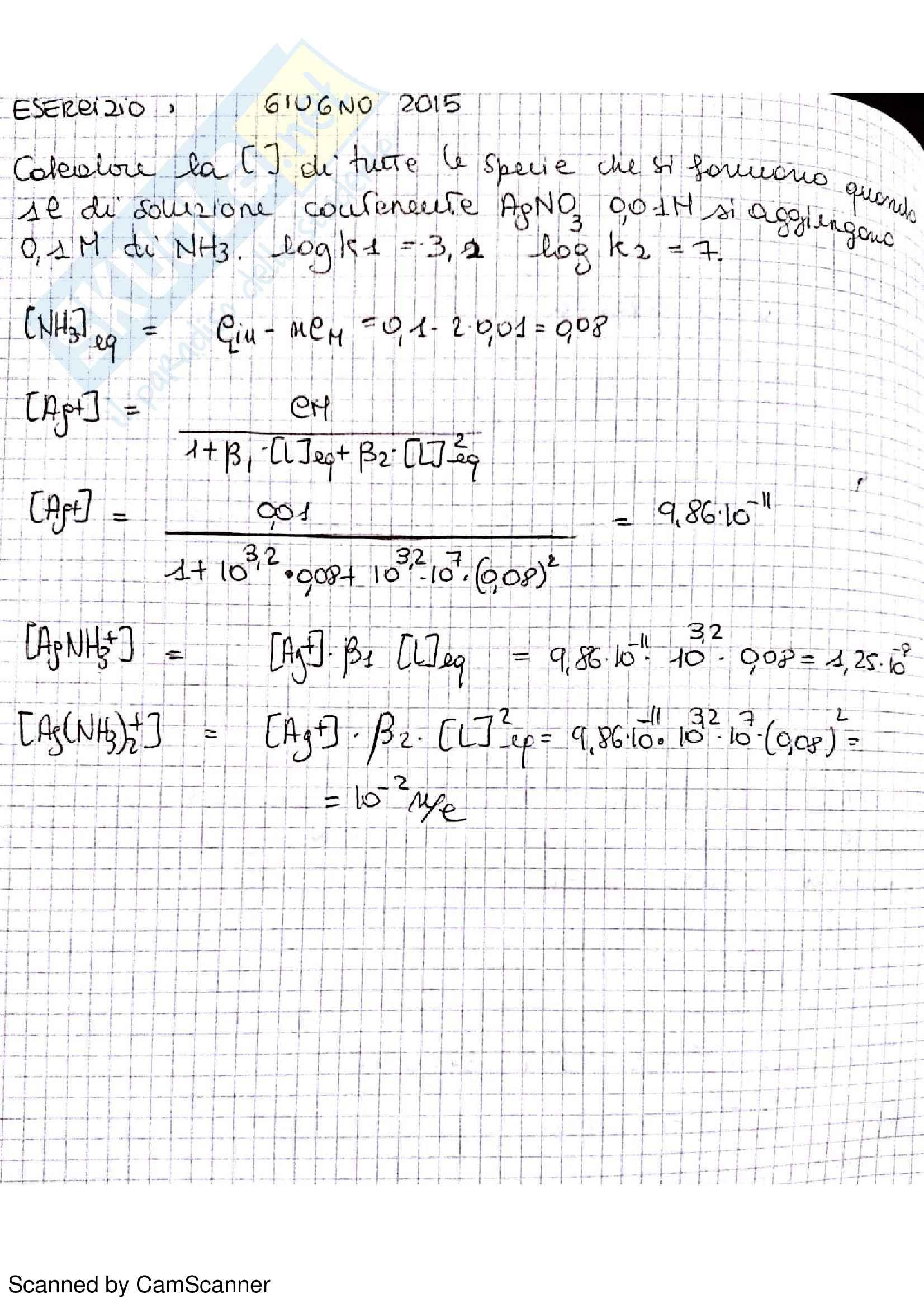 Appunti completi di chimica analitica comprensivi di esercizi d'esame Pag. 36