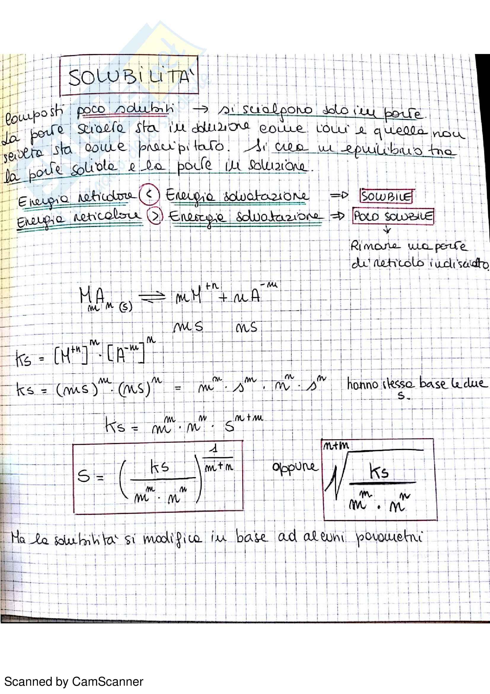 Appunti completi di chimica analitica comprensivi di esercizi d'esame Pag. 46