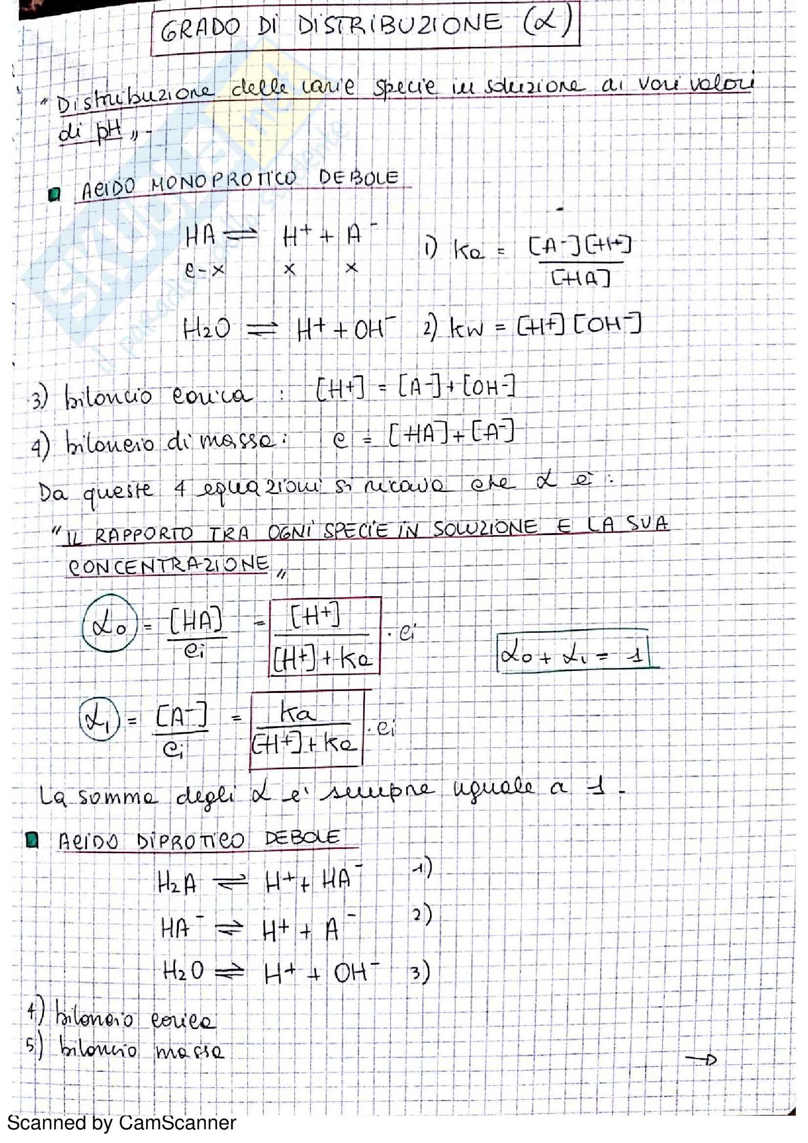 Appunti completi di chimica analitica comprensivi di esercizi d'esame Pag. 6