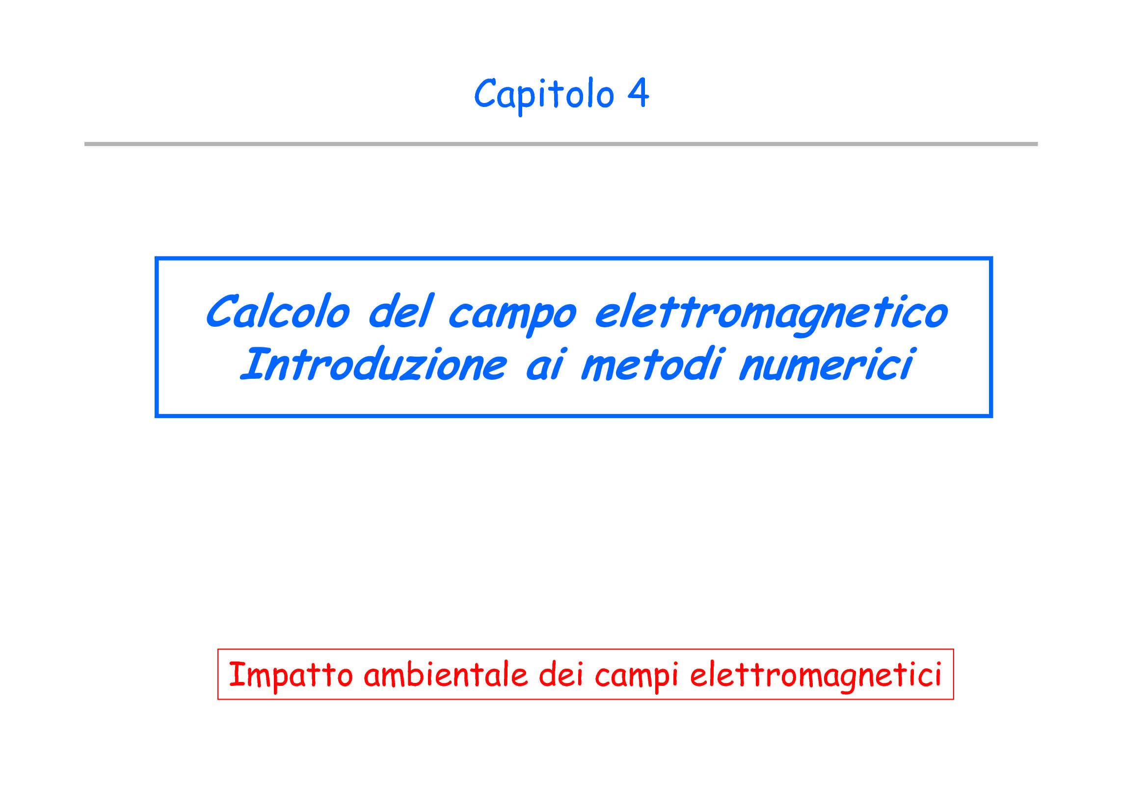 Campo elettromagnetico - Calcolo del campo