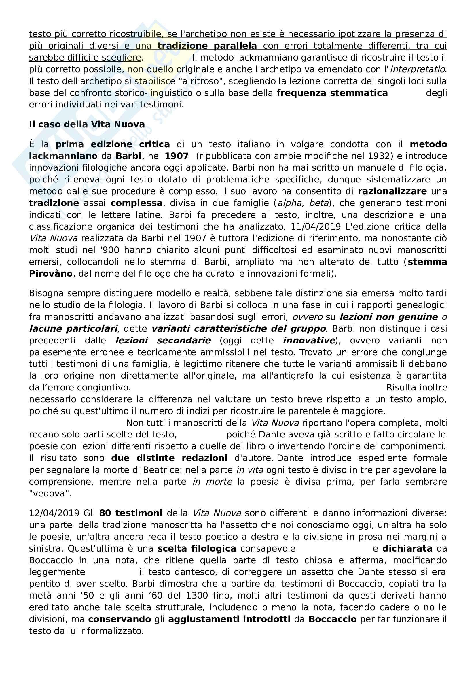 Elementi di filologia italiana, prof. Grimaldi Pag. 16
