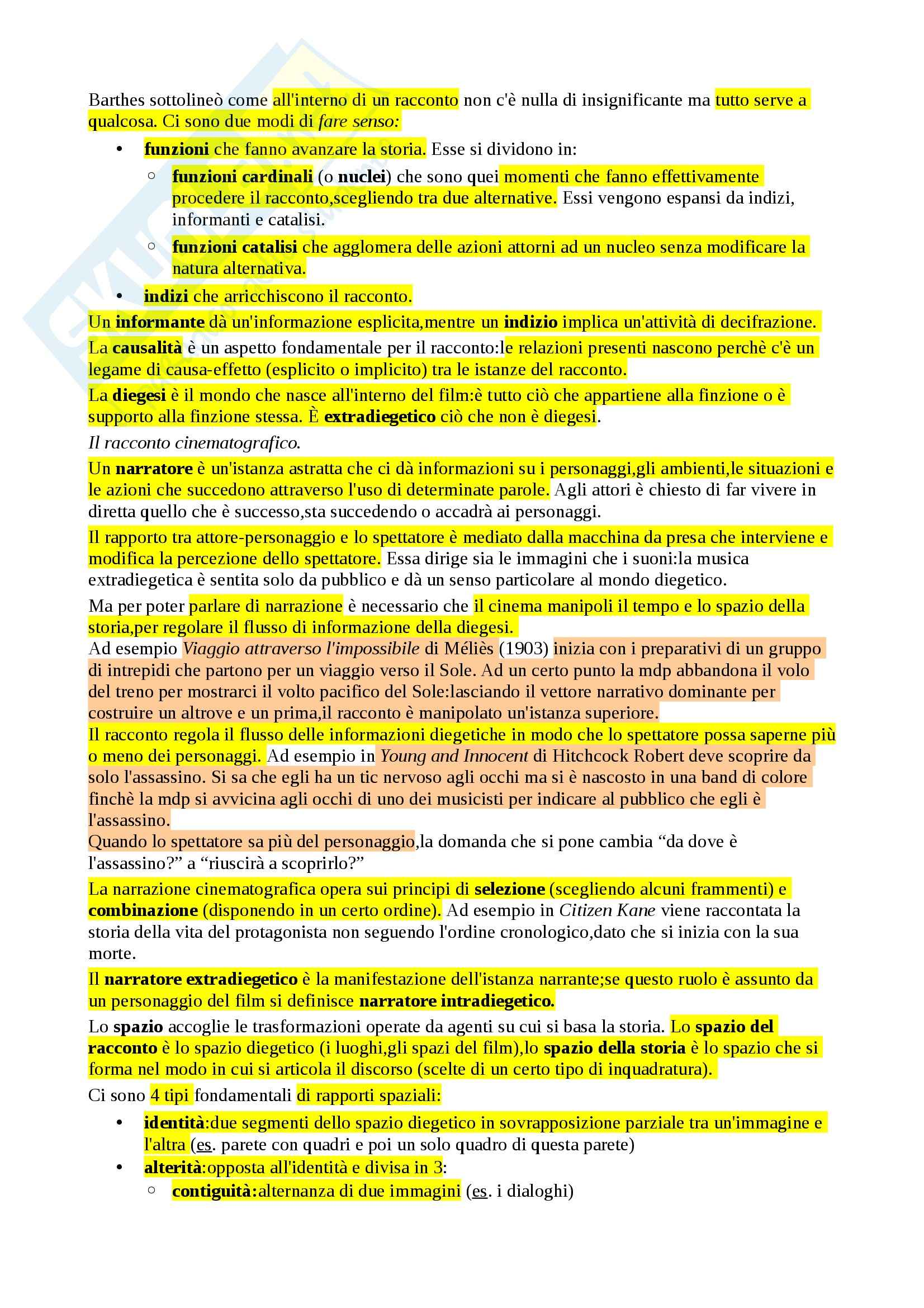Riassunto esame Linguaggio cinematografico, prof. Dagrada, libro consigliato Manuale del film di Rondolino, Tomasi Pag. 2