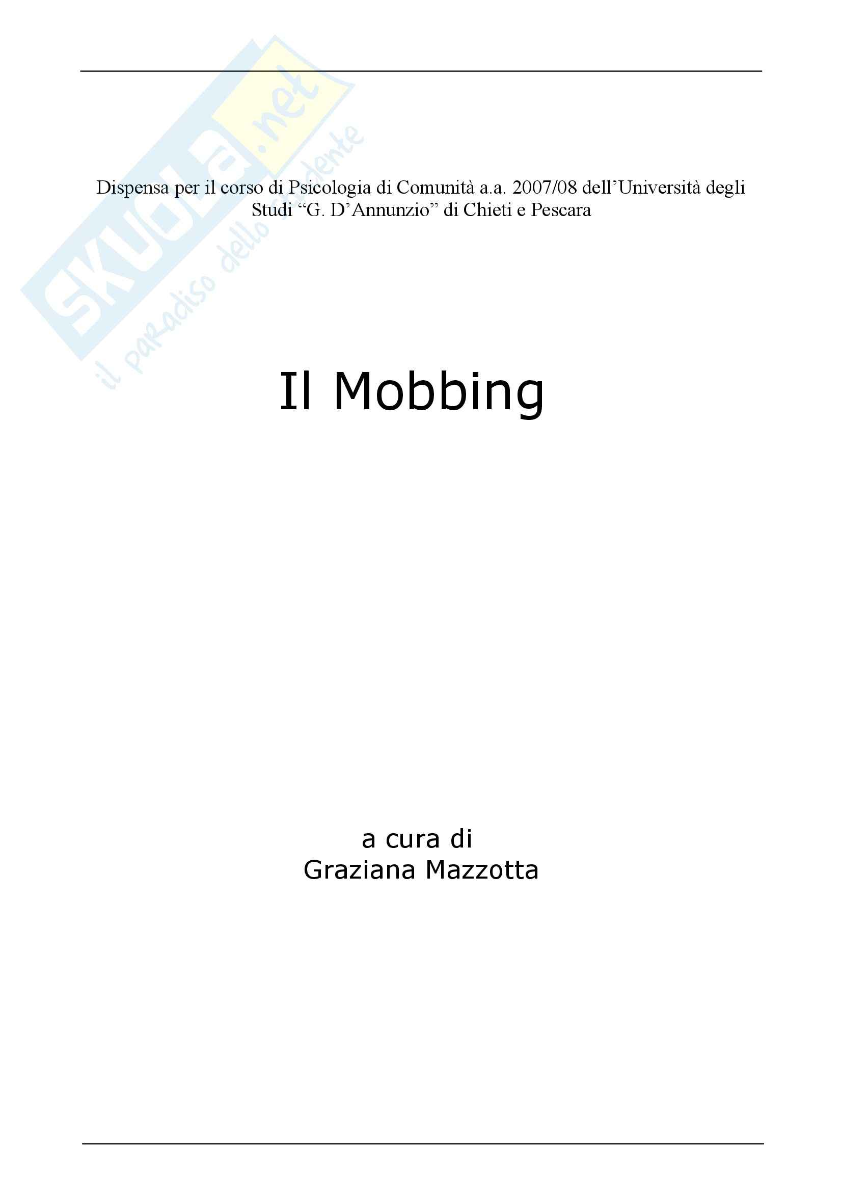 Psicologia - Mobbing Pag. 1