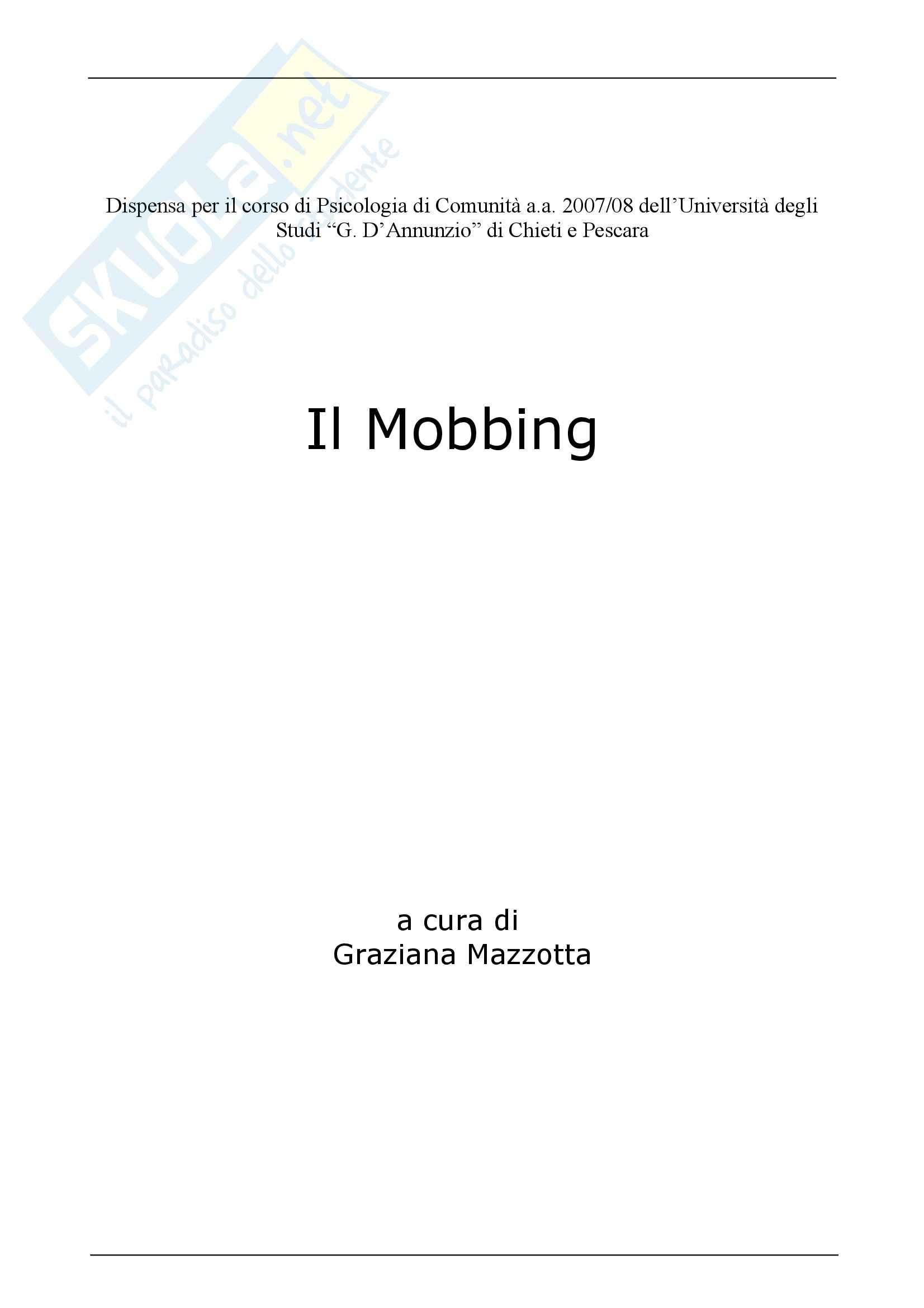 Psicologia - Mobbing