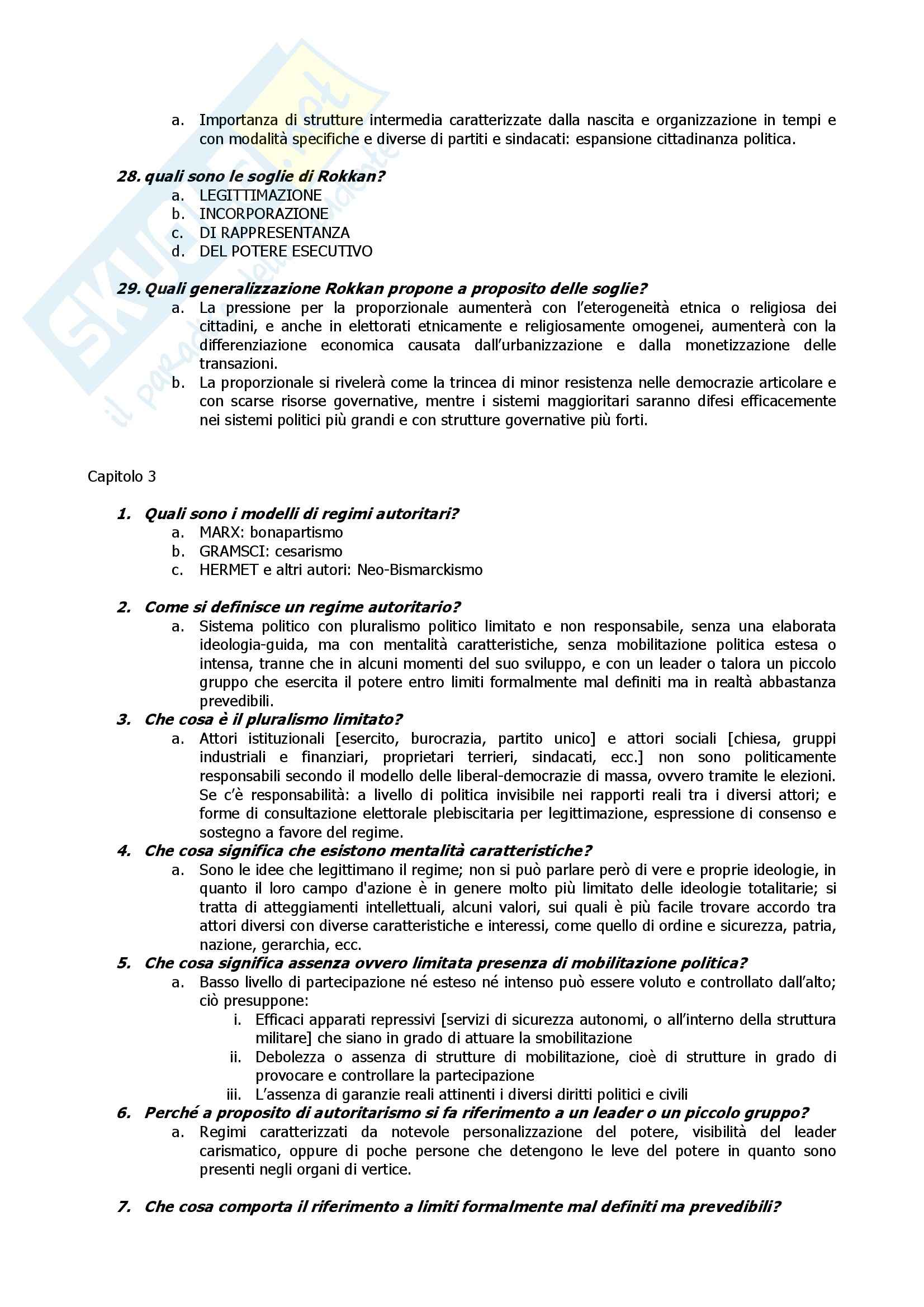 Fondamenti di scienza politica, Cotta, Della Porta, Morlino - Domande e risposte Pag. 6