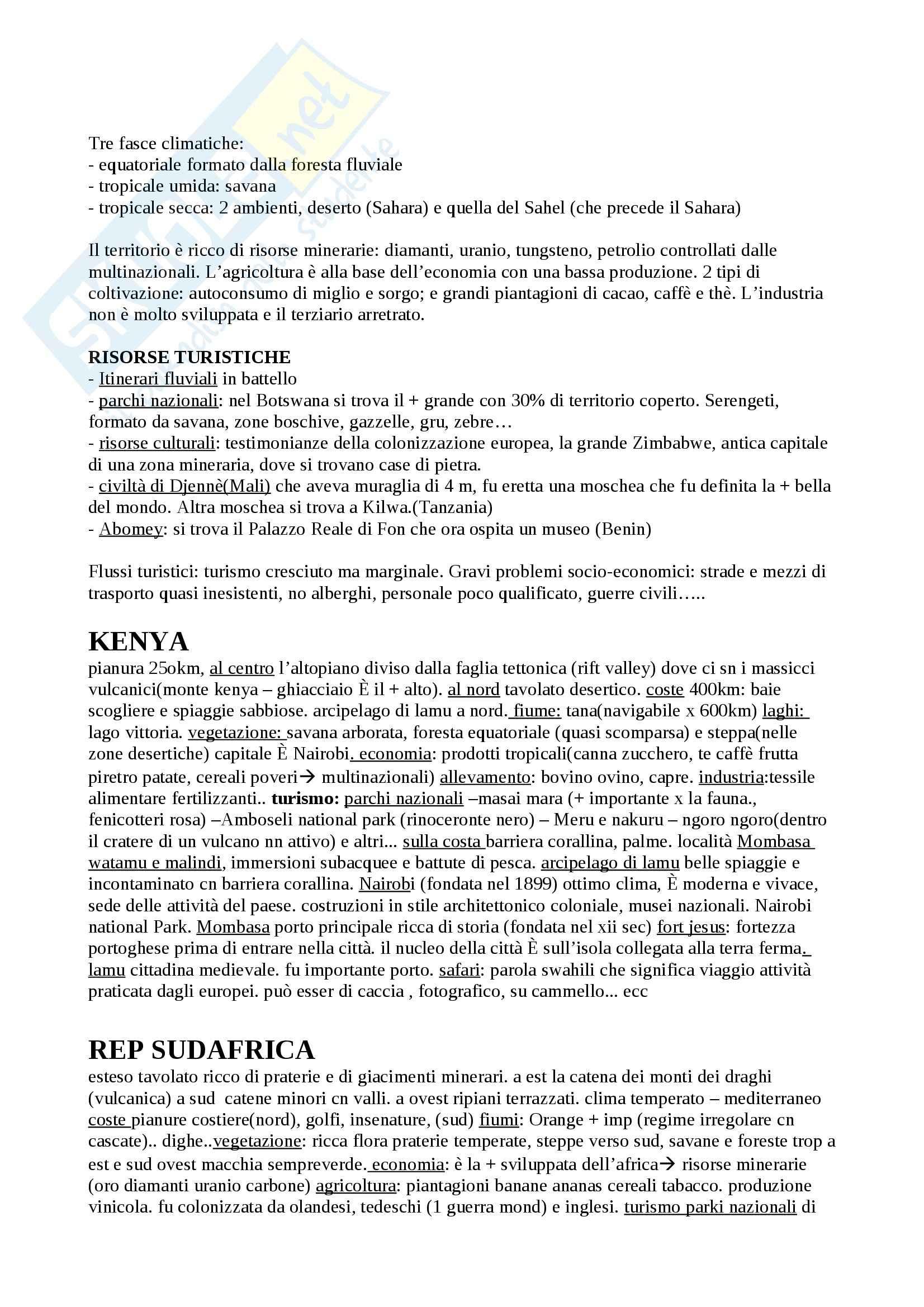 Asia, Africa e America, Geografia politica ed economica Pag. 2
