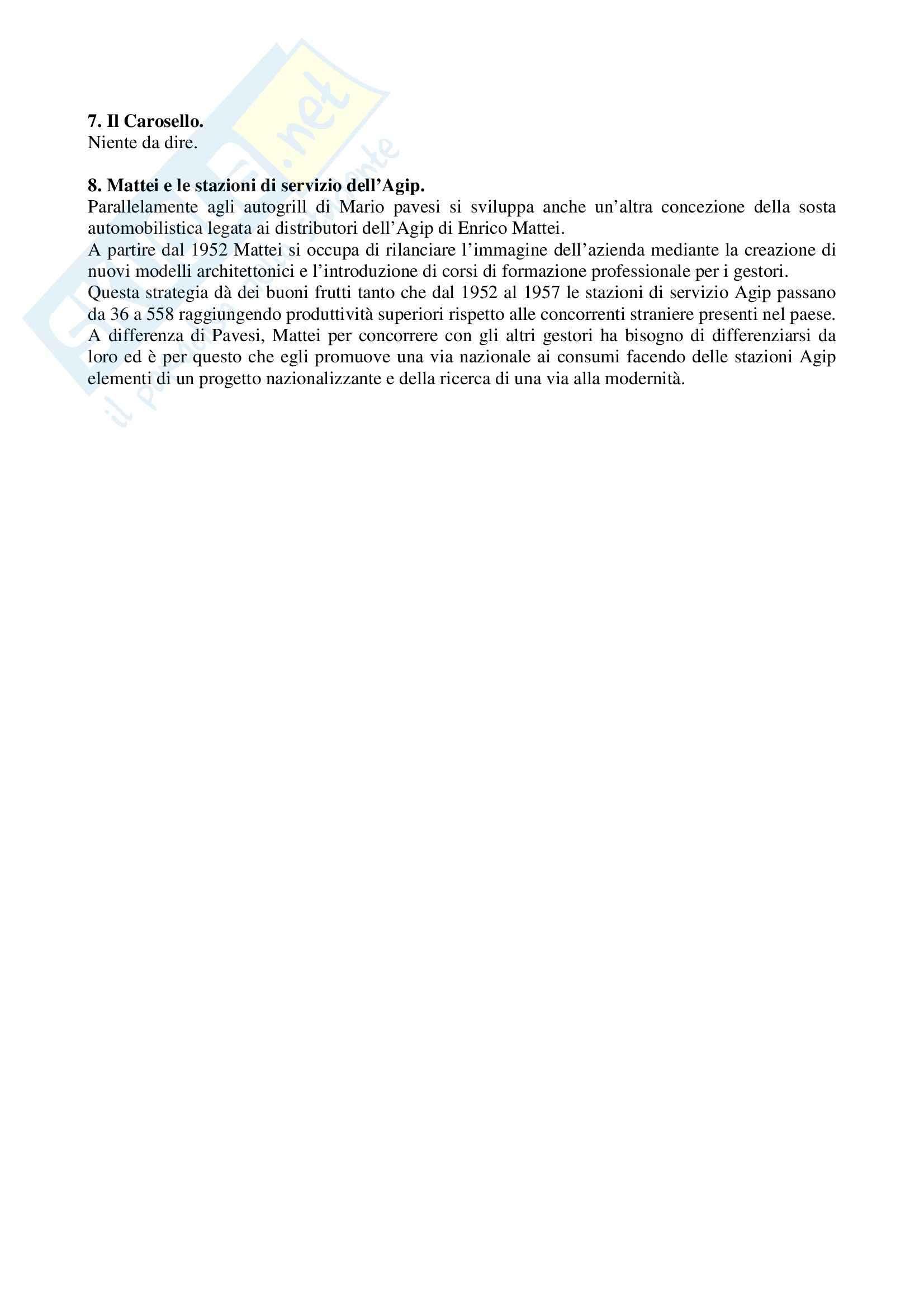 Riassunto esame Storia del turismo, prof. Gissi, libro consigliato Autogrill, Una storia italiana, Colafranceschi Pag. 2