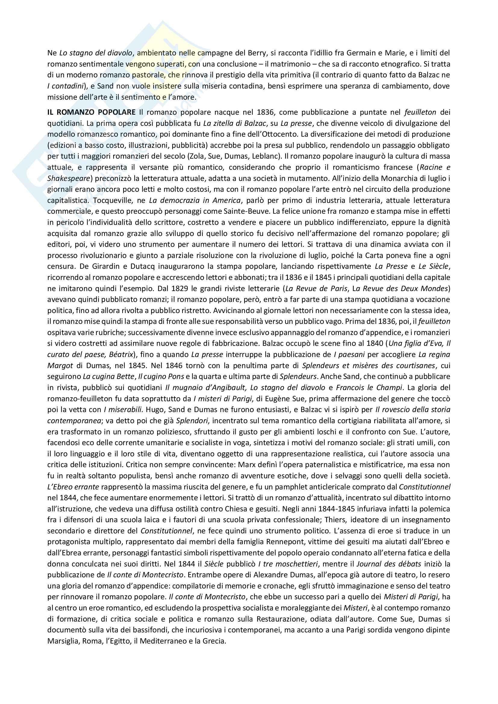 Riassunto esame Letteratura francese, prof. Fabio Vasarri, libro consigliato Il romanzo francese dell'Ottocento, di Anna Scaiola Pag. 11