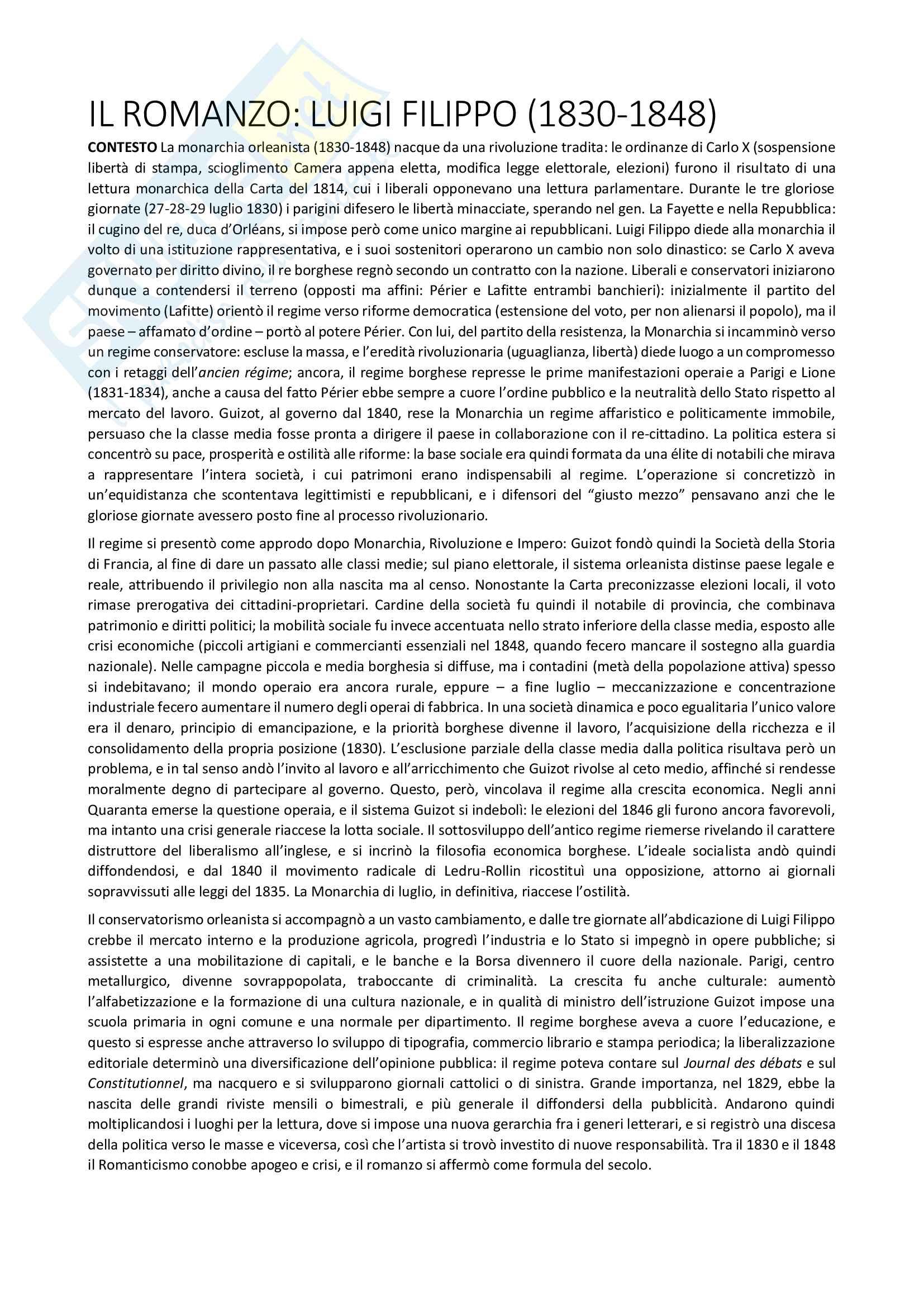 Riassunto esame Letteratura francese, prof. Fabio Vasarri, libro consigliato Il romanzo francese dell'Ottocento, di Anna Scaiola Pag. 6
