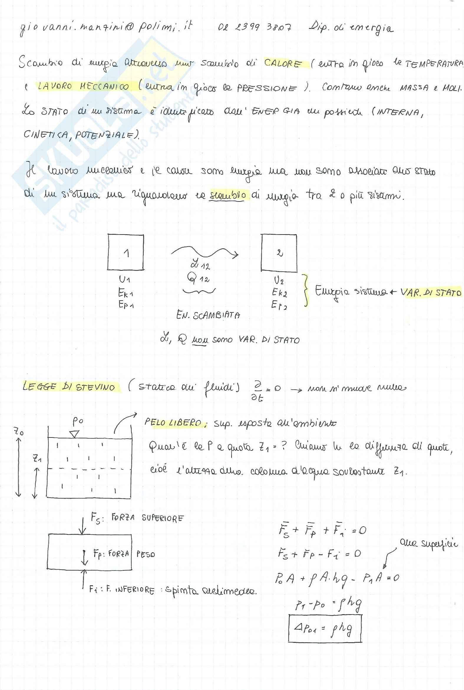 Fisica Tecnica, teoria + formulario + esercizi + risposte a domande di teoria